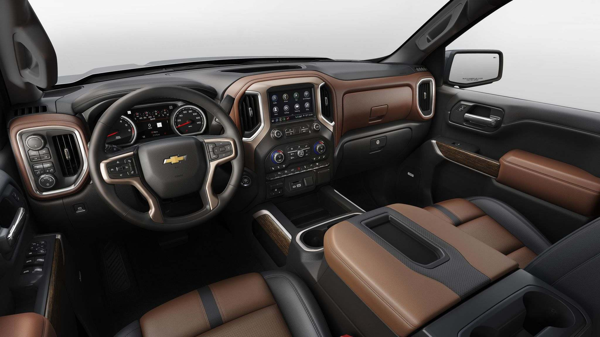 The 2019 Chevrolet Silverado's interior.