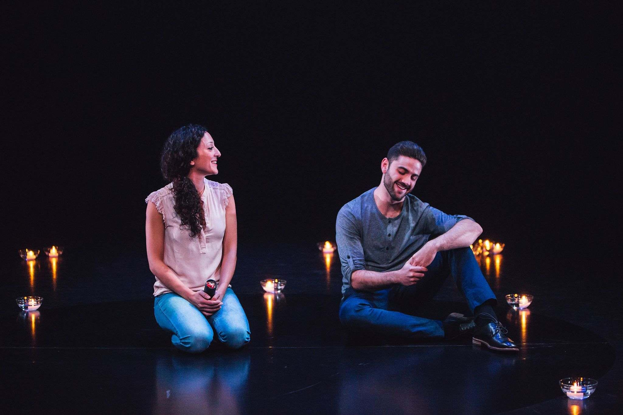 Michael Tan</p><p>Bahareh Yaraghi and Danny Ghantous star in Salt-Water Moon, which is on stage until Feb. 11.</p></p>