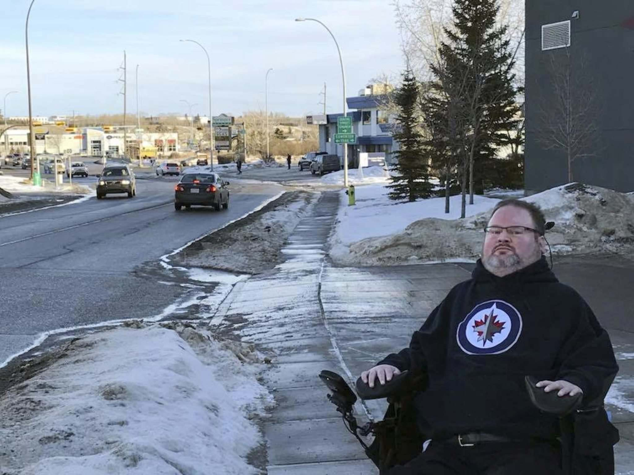 FACEBOOK</p><p>Fletcher visited the Fresh Start centre in Calgary, and said in a Facebook video its location is 'more like an industrial park.'</p></p>