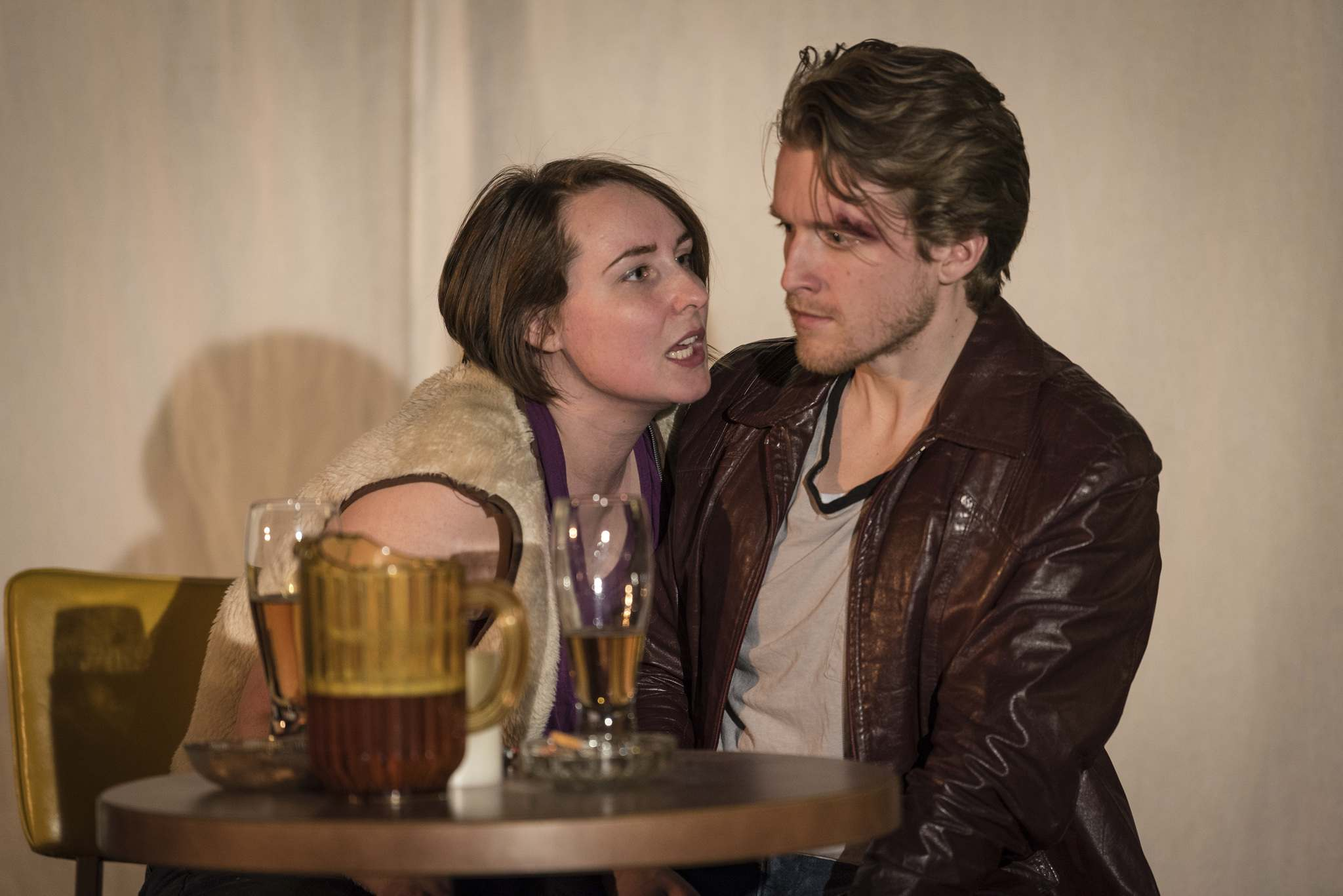 Kayla Gordon</p><p>RobYn Slade (left) and Darren Martens, as Roberta and Danny, in Patrick Shanley's play, Danny and the Deep Blue Sea: An Apache Dance, held at the Keep Theatre until Feb. 17.</p></p>