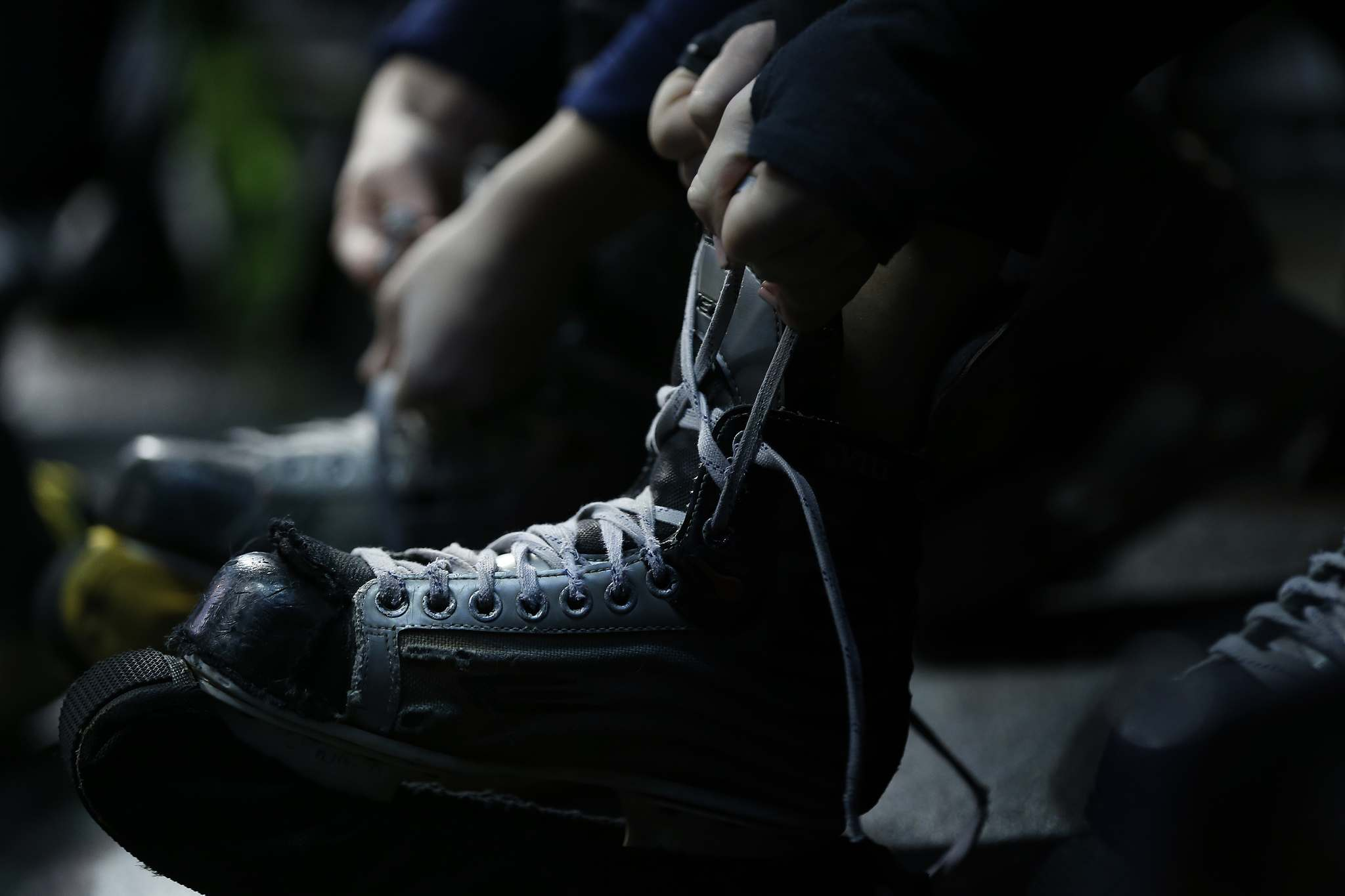 The Ice Crew laces up.</p>