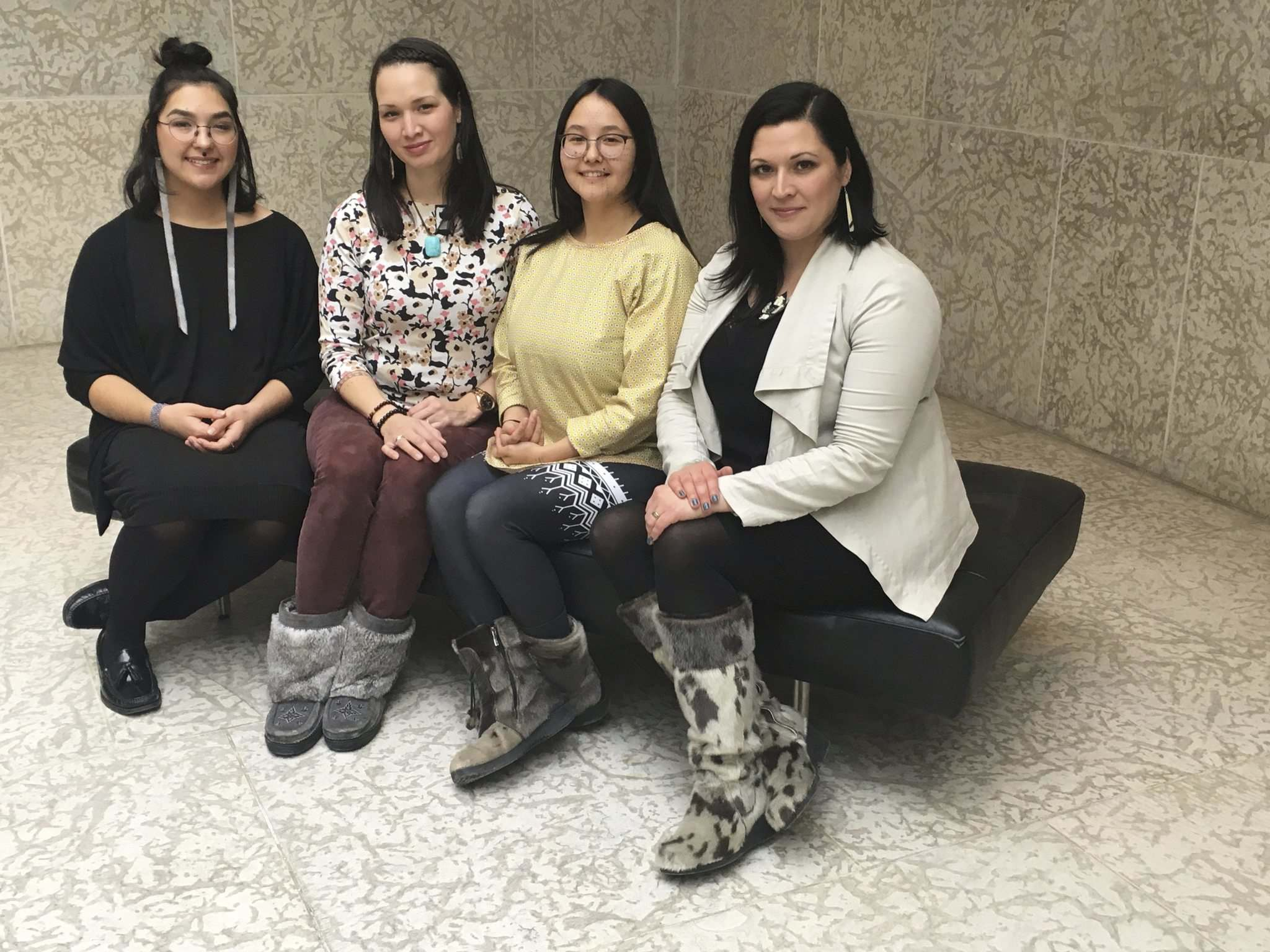 SUPPLIED</p><p>Jade Nasogaluak Carpenter (from left), Krista Ulujuk Zawadski, Asinnajaq, Dr. Heather Igloliorte will make up the Inuit Art Centre's all-Inuit, four-woman first team of curators.</p>