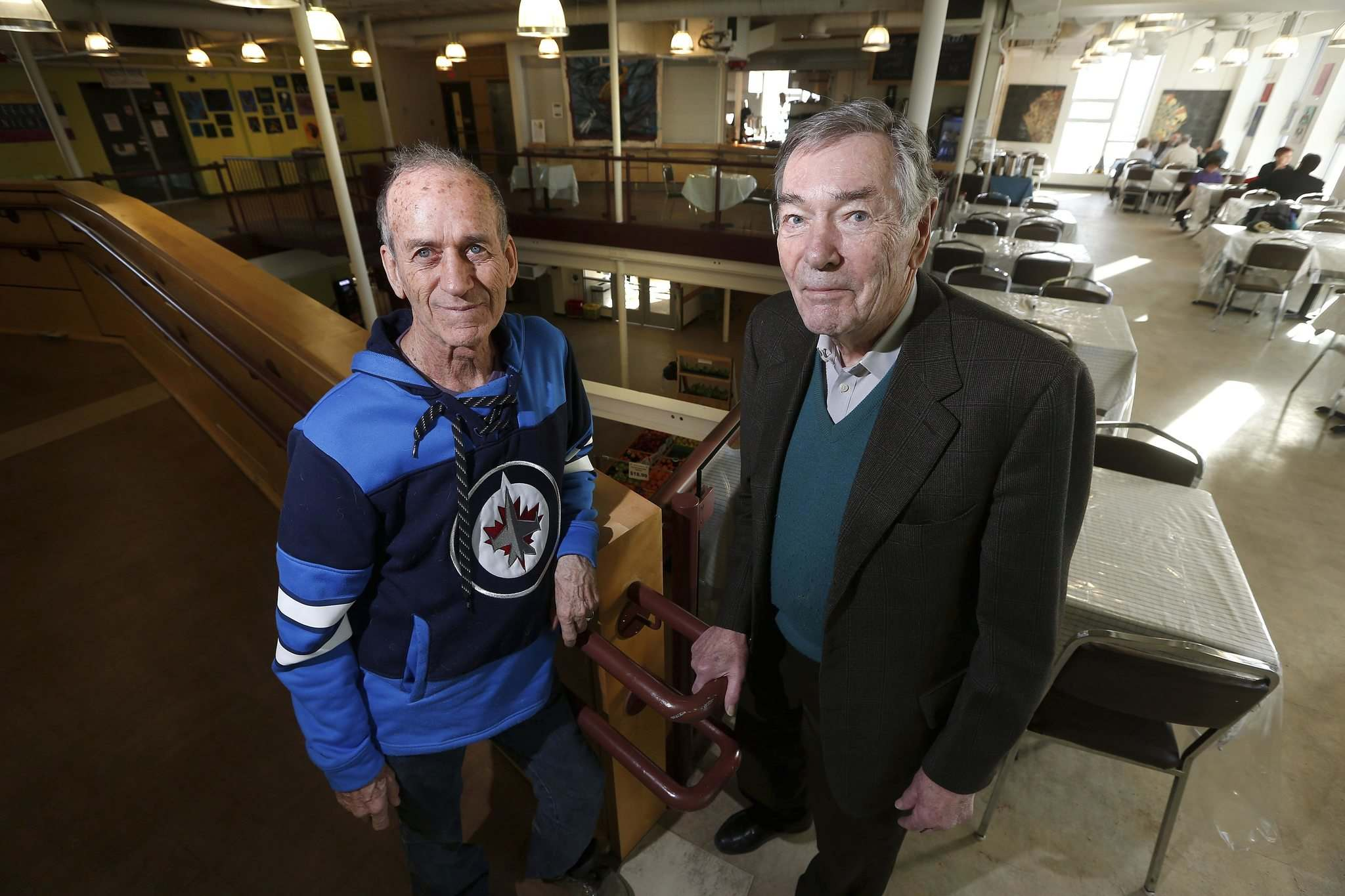 JOHN WOODS / WINNIPEG FREE PRESS</p><p>Sel Burrows (left) and Charles Huband, co-chairmen of the Rail Yard Relocation Project, want to start investigating moving Winnipeg&rsquo;s rail yards from its current location.</p>