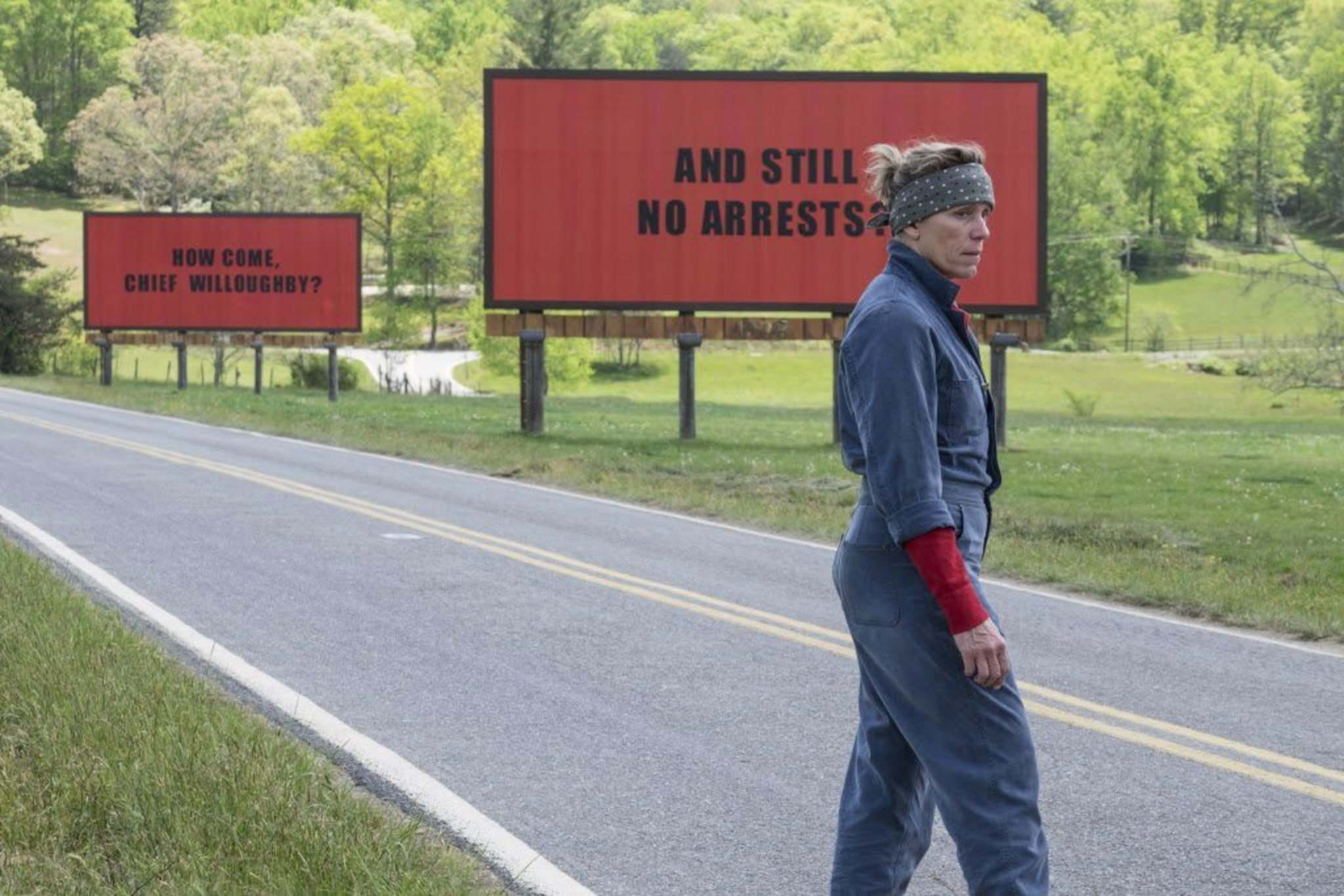 Frances McDormand in a scene from Three Billboards Outside Ebbing, Missouri. (Fox Searchlight)