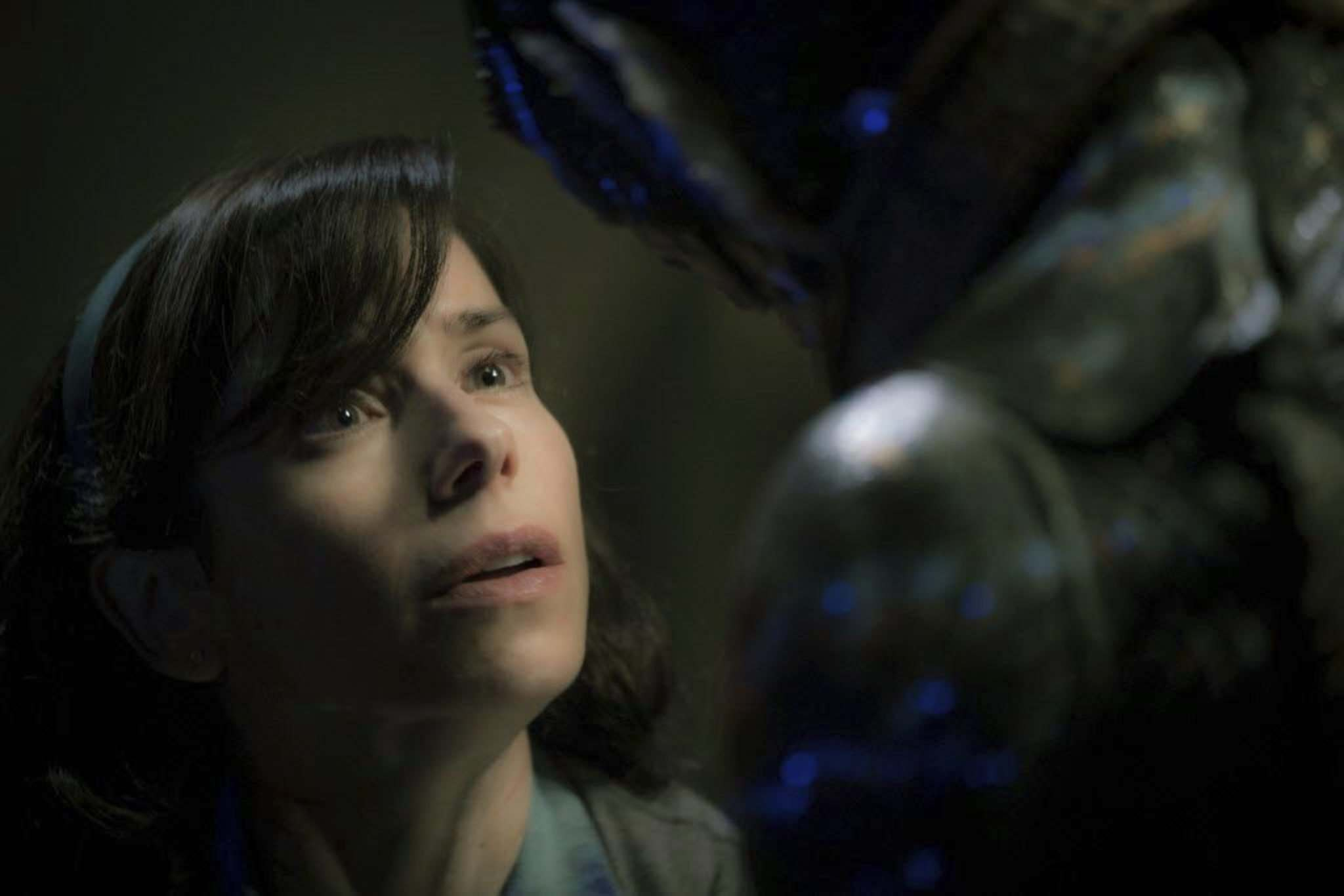Sally Hawkins (left) and The Shape of Water have been nominated for Oscars, but are Academy Award voters ready for a sci-fi fantasy? (Kerry Hayes / 20th Century Fox)