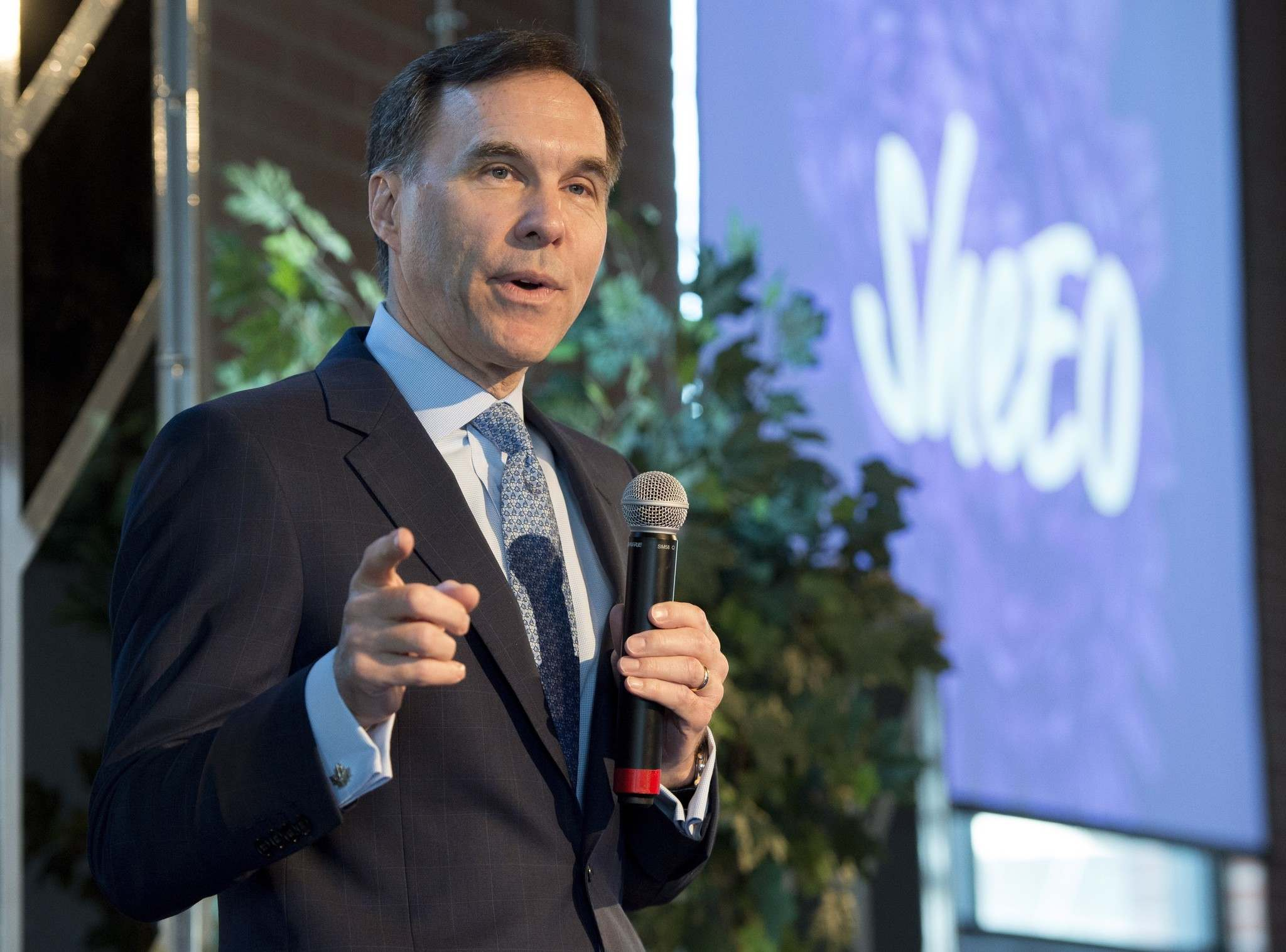 Frank Gunn / The Canadian Press</p><p>Federal Finance Minister Bill Morneau has shifted his focus away from infrastructure funding.</p>