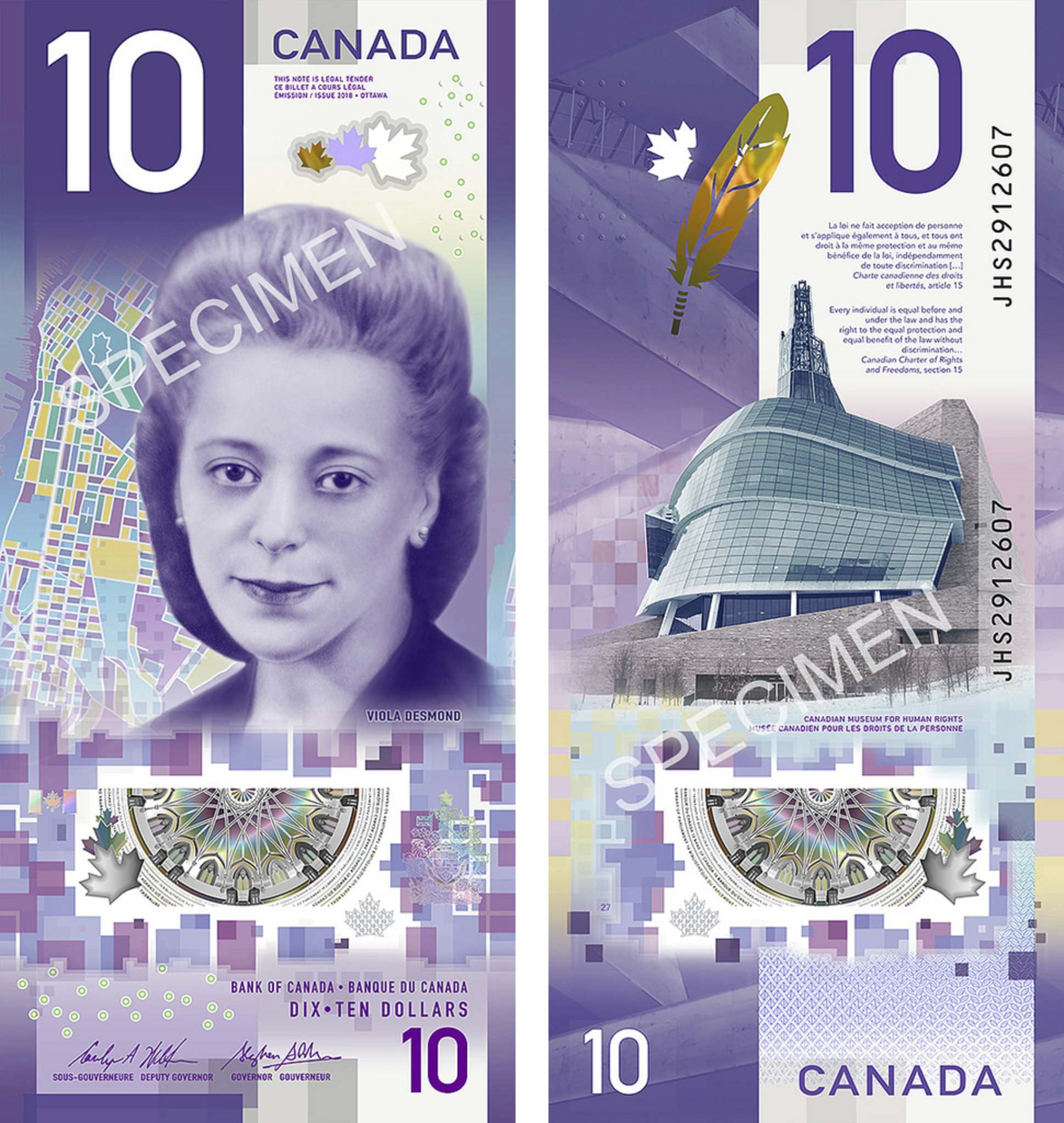 Woman Who Stood Up to Racism Graces Canada's First Vertical Bank Note