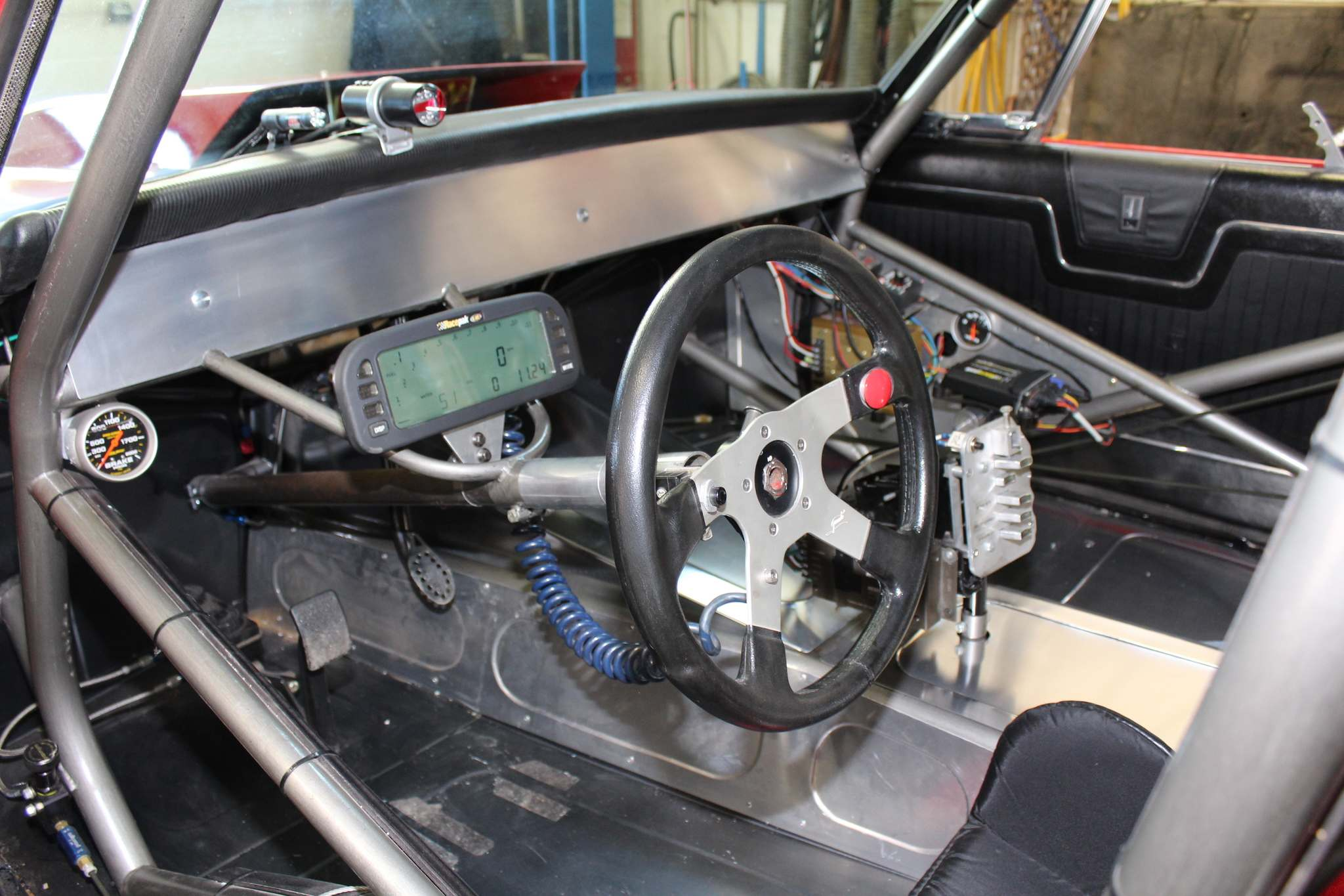 One look at the interior of Dale Altstadt's 1964 Plymouth Sport Fury, and you get the idea it is purpose-built for drag racing.