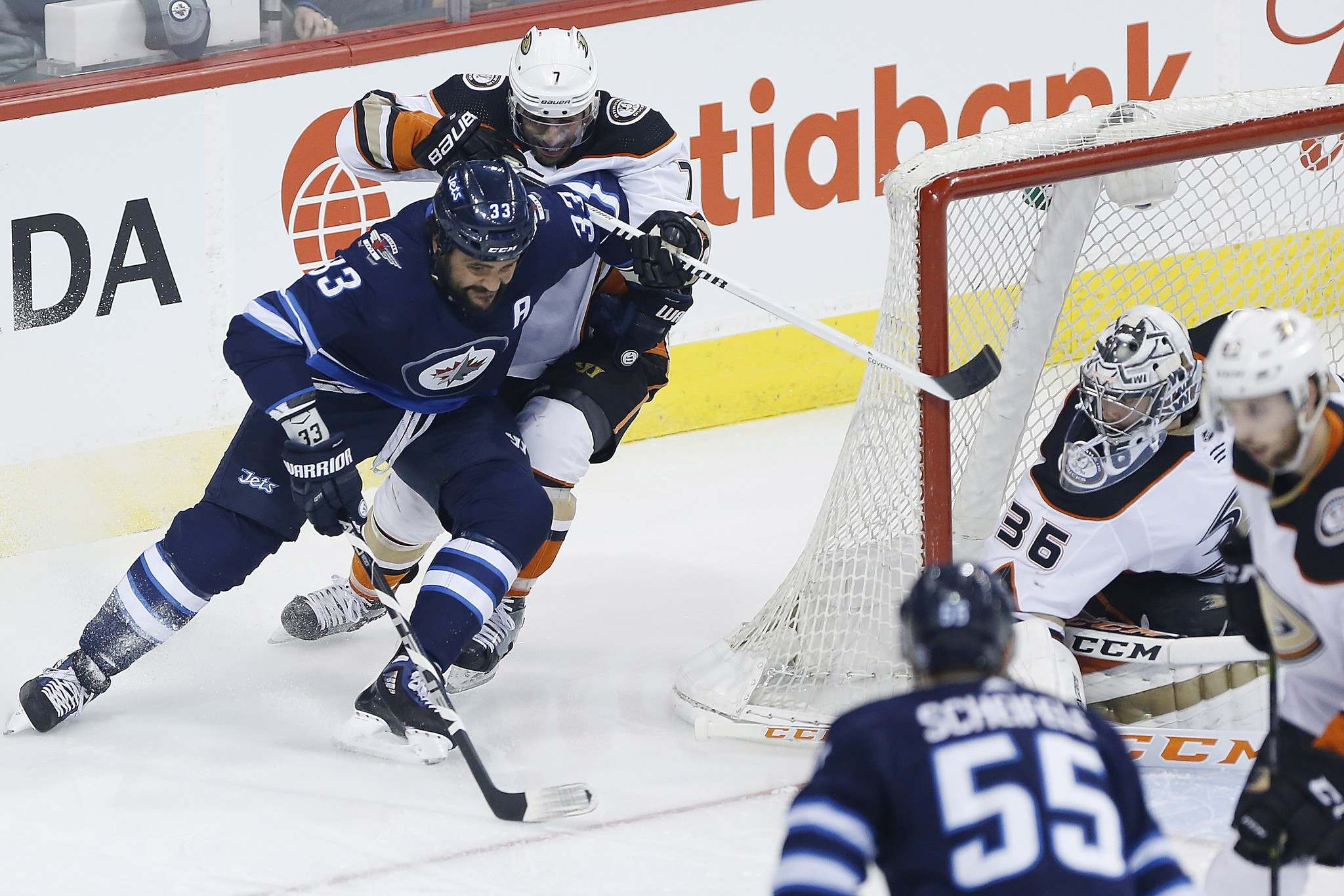John Woods / The Canadian Press files</p><p>Jets defenceman Dustin Byfuglien has cut down on risky rushes up the ice but still makes the occasional foray deep into the opposition's end.</p></p>