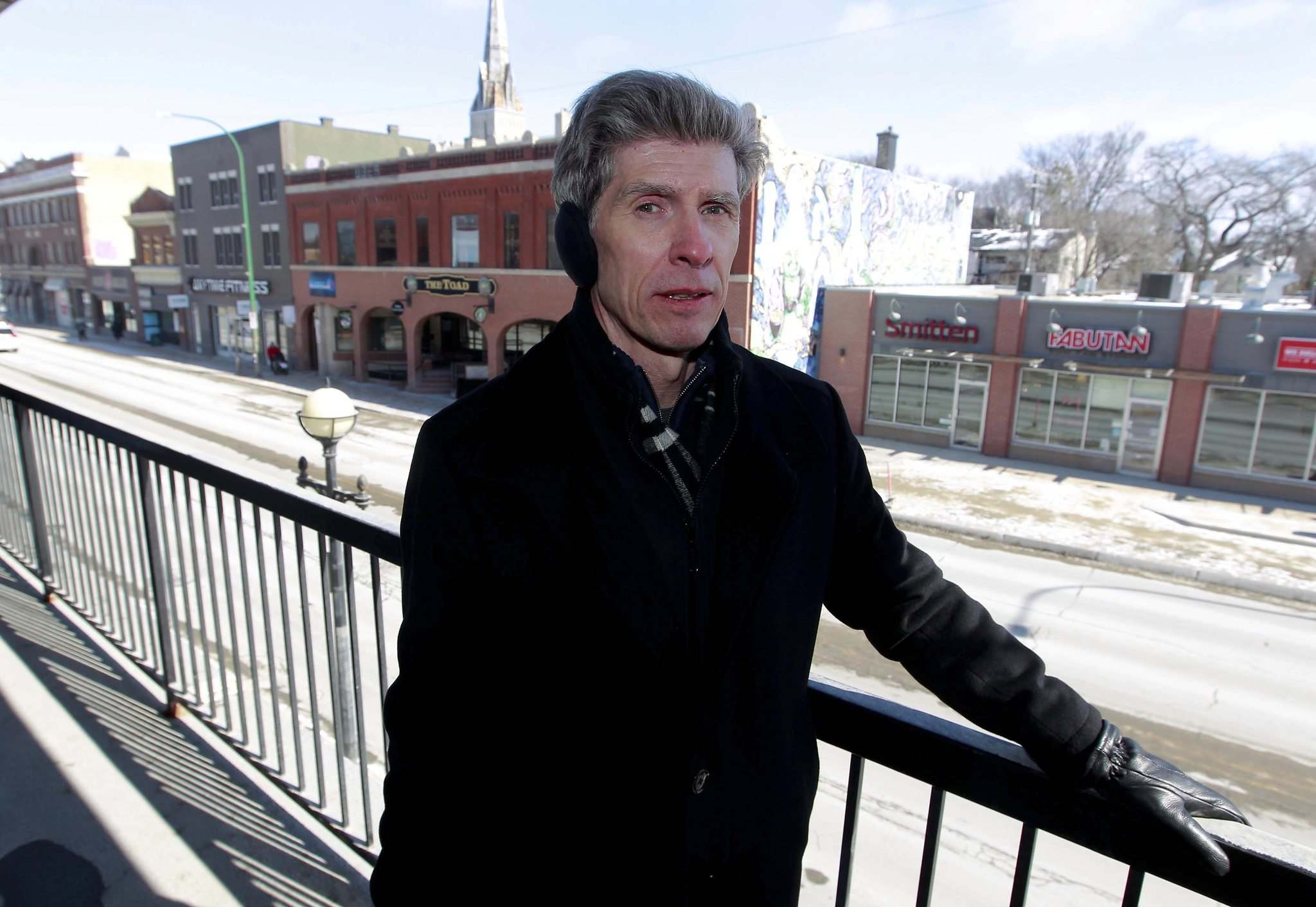 BORIS MINKEVICH / WINNIPEG FREE PRESS</p><p>Robert Orr is concerned about the decline of Osborne Village, given the empty spaces in the Desart block, the vacant Ward 1 restaurant and the uncertainty about the Osborne Village Inn.</p></p>