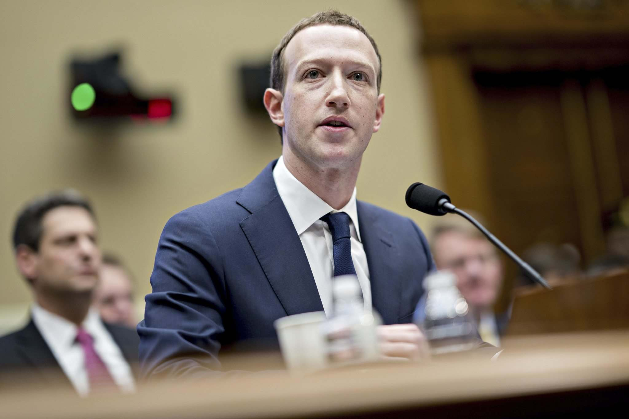 Mark Zuckerberg unscathed by congressional grilling, stock rises