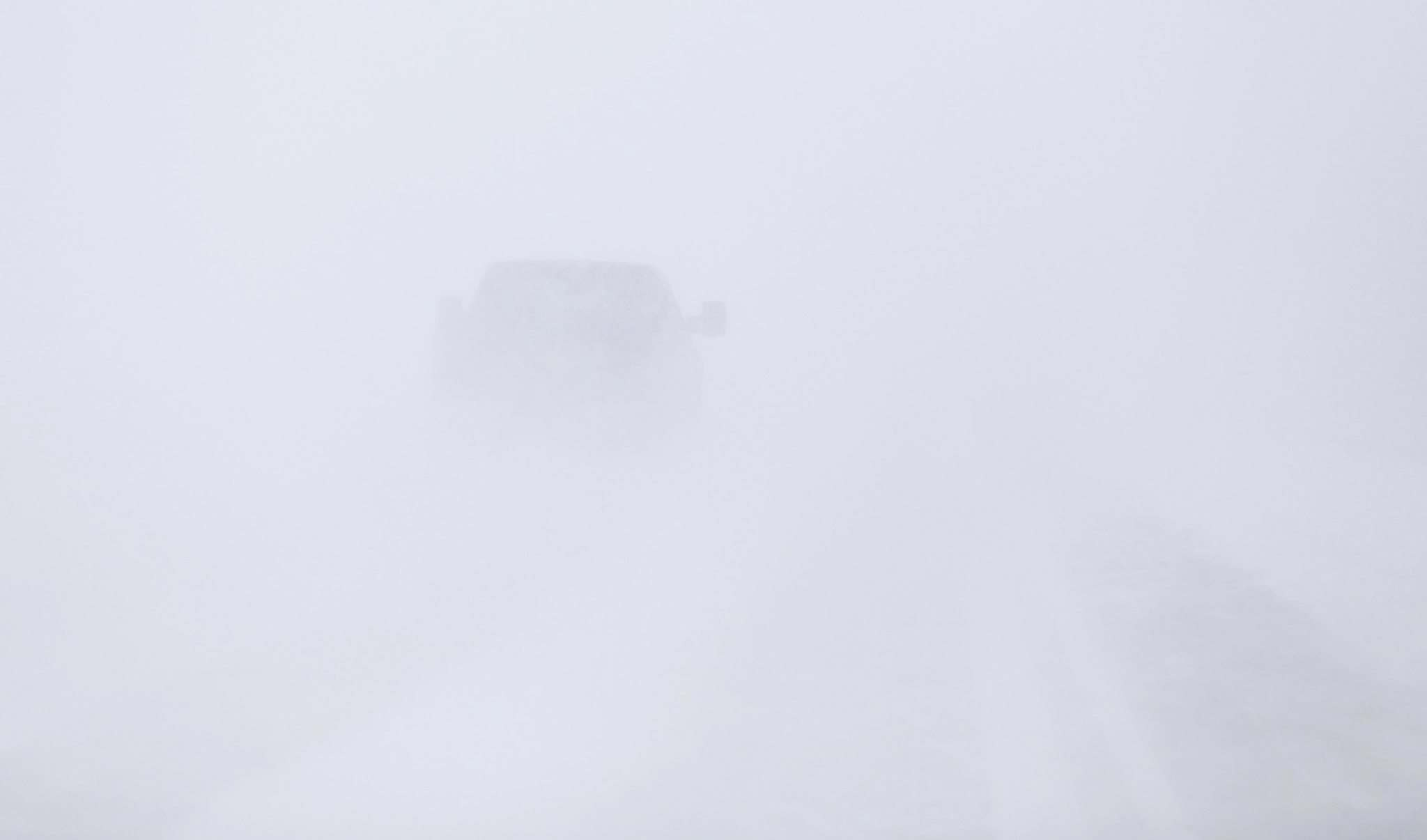 It was a whiteout on the highway near Monticello, Minnesota this morning. Free Press photographer Trevor Hagan was on his way to Minneapolis to cover the Jets/Wild playoff series. </p>