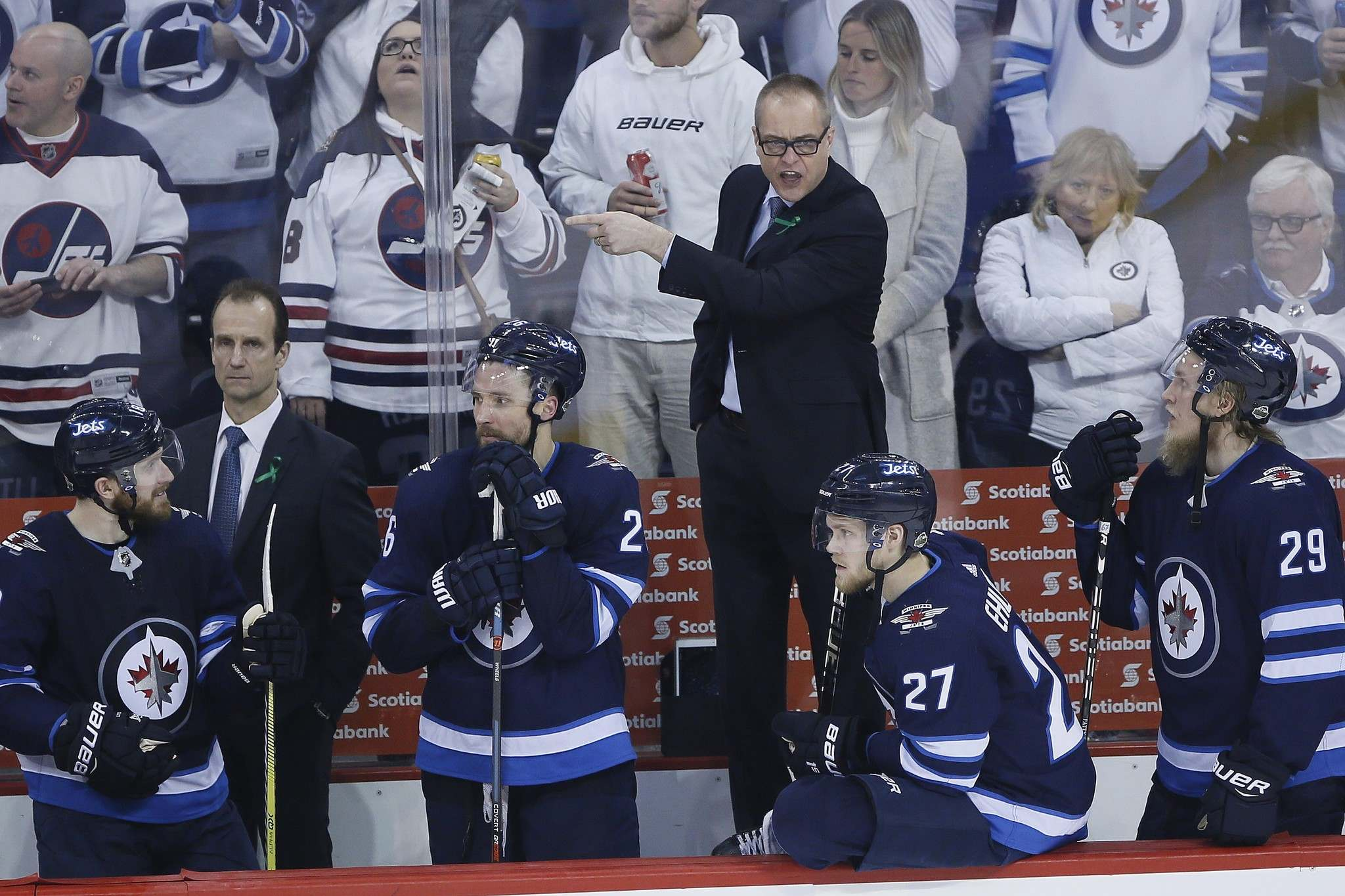 THE CANADIAN PRESS/John Woods</p><p>Winnipeg Jets head coach Paul Maurice yells at an official during game against the Minnesota Wild.</p>