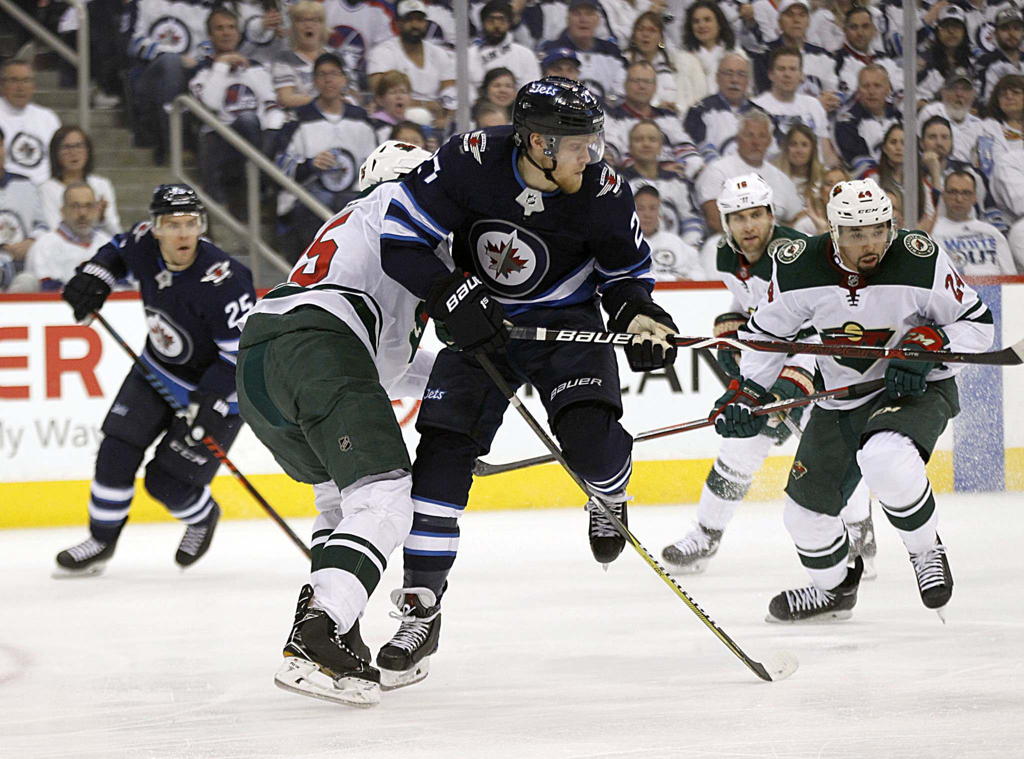 PHIL HOSSACK / WINNIPEG FREE PRESS</p><p>Winnipeg Jets&#39; Nikolaj Ehlers against the Minnesota Wild. Ehlers says he replays missed scoring opportunities over and over in his mind.</p>