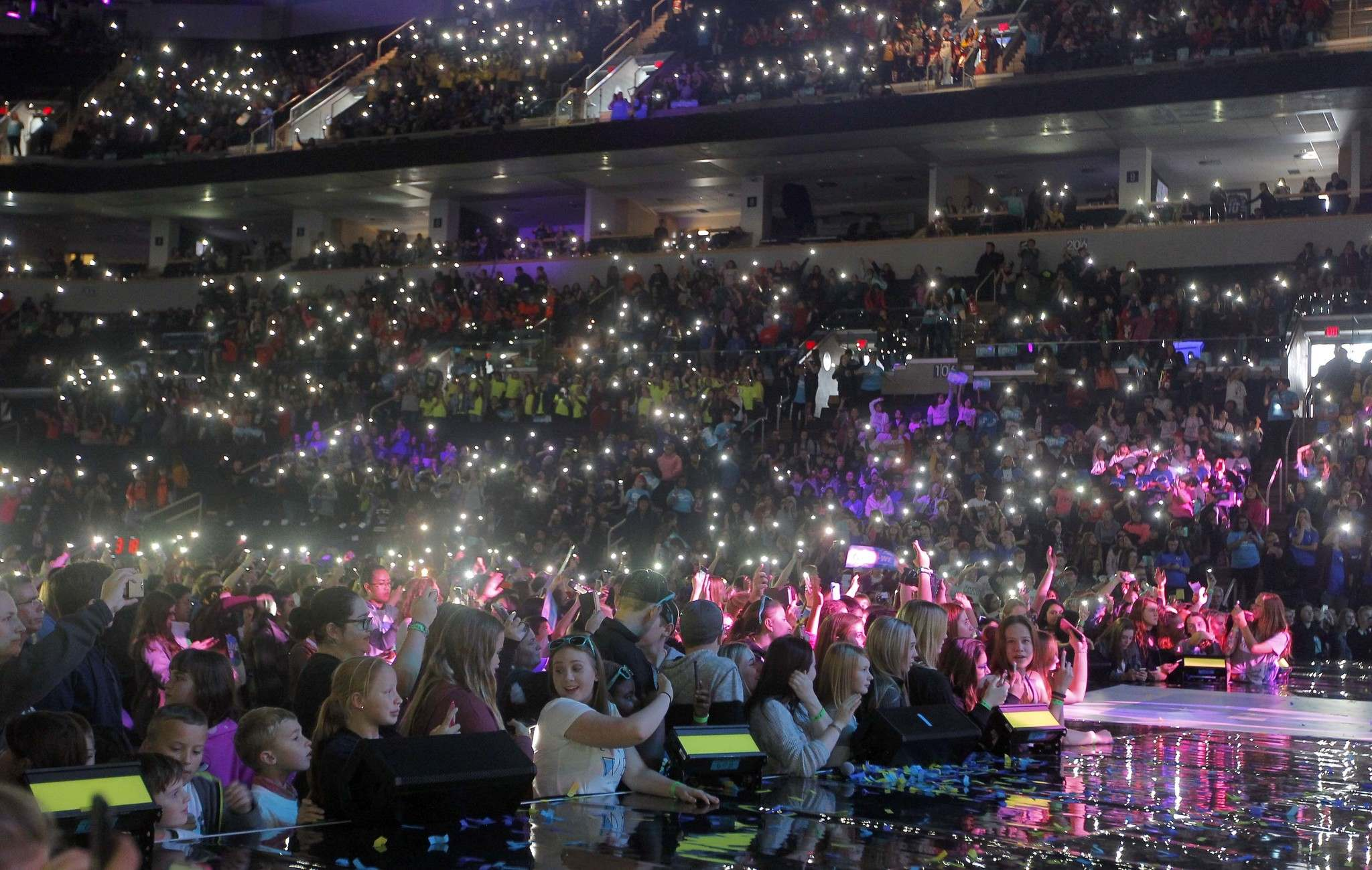 BORIS MINKEVICH / WINNIPEG FREE PRESS FILES</p><p>Enthusiastic young people pack Bell MTS Place during We Day celebrations, an annual event in Winnipeg that celebrates youth engagement.</p>