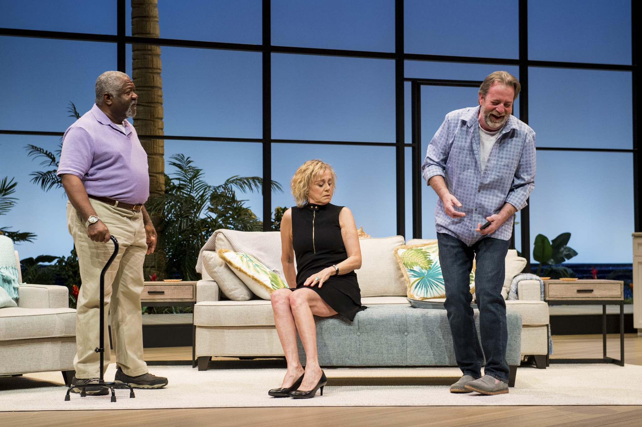 From left: Alvin Sanders, Fiona Reid and C. David Johnson in Morning After Grace. (Dylan Hewlett photo)</p></p>
