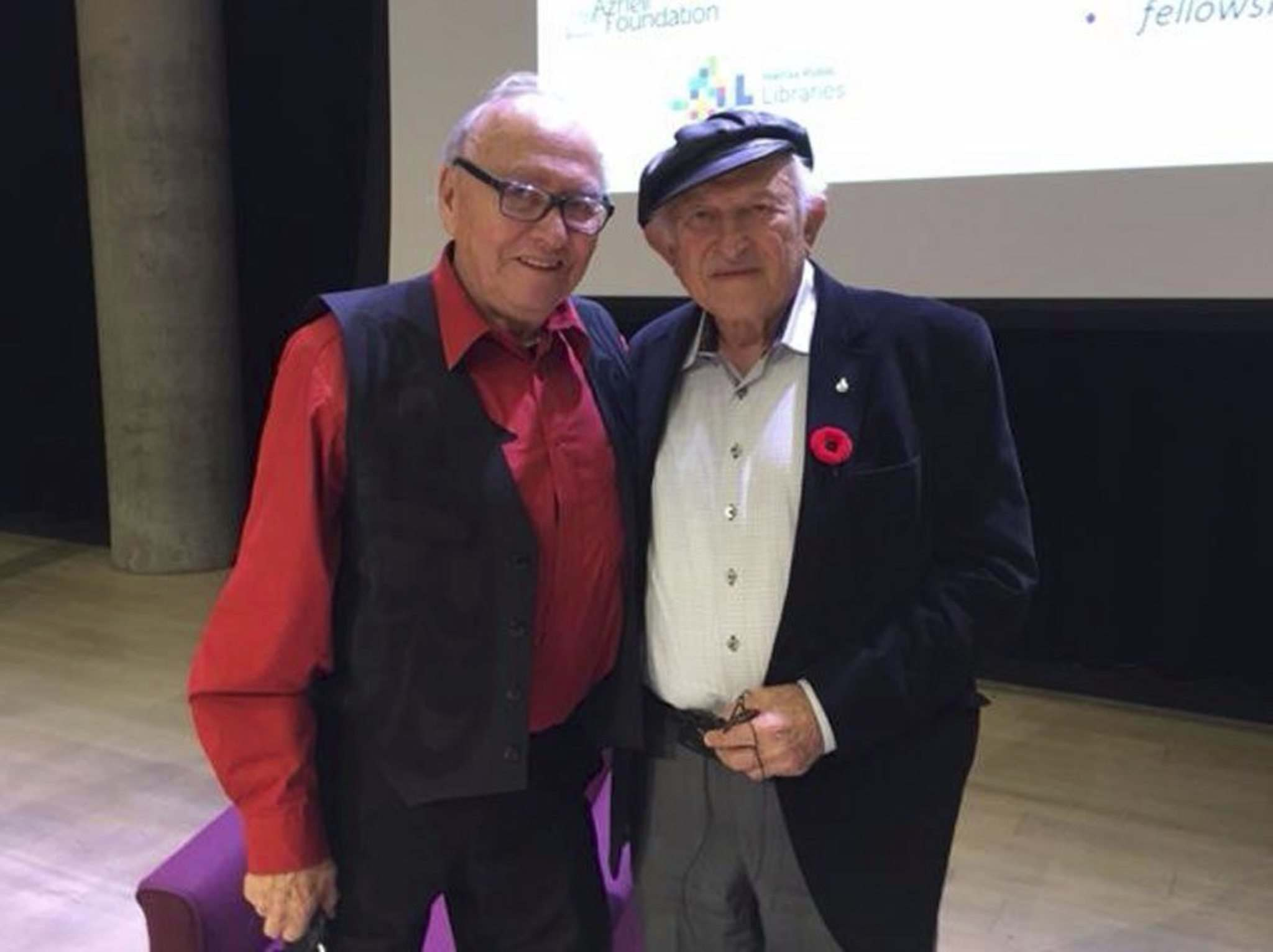 SUPPLIED</p><p>Residential school survivor Theodore Fontaine (left) and Holocaust survivor Nate Leipciger will be sharing their experiences Sunday at the Canadian Museum for Human Rights.</p>