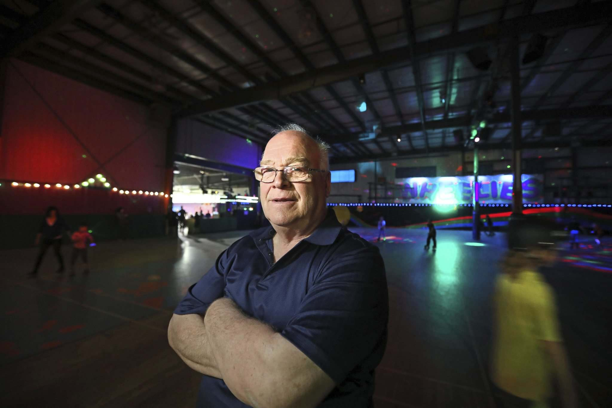 Gordon Gunn, the owner of Wheelies Roller Rink, said the building was recently bought by a neighbouring tenant, forcing the roller rink out. (Ruth Bonneville / Winnipeg Free Press)</p>