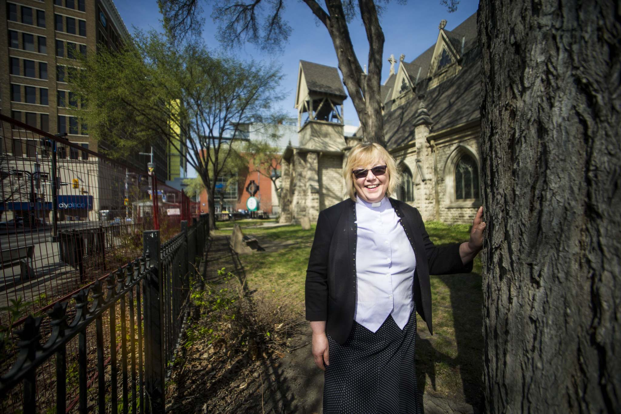 MIKAELA MACKENZIE / WINNIPEG FREE PRESS</p><p>The first pop-up potty location will be by Holy Trinity Anglican Church. Rev. Enid Pow: 'I don't know how to put this delicately, but when people have to go they have to go'</p>