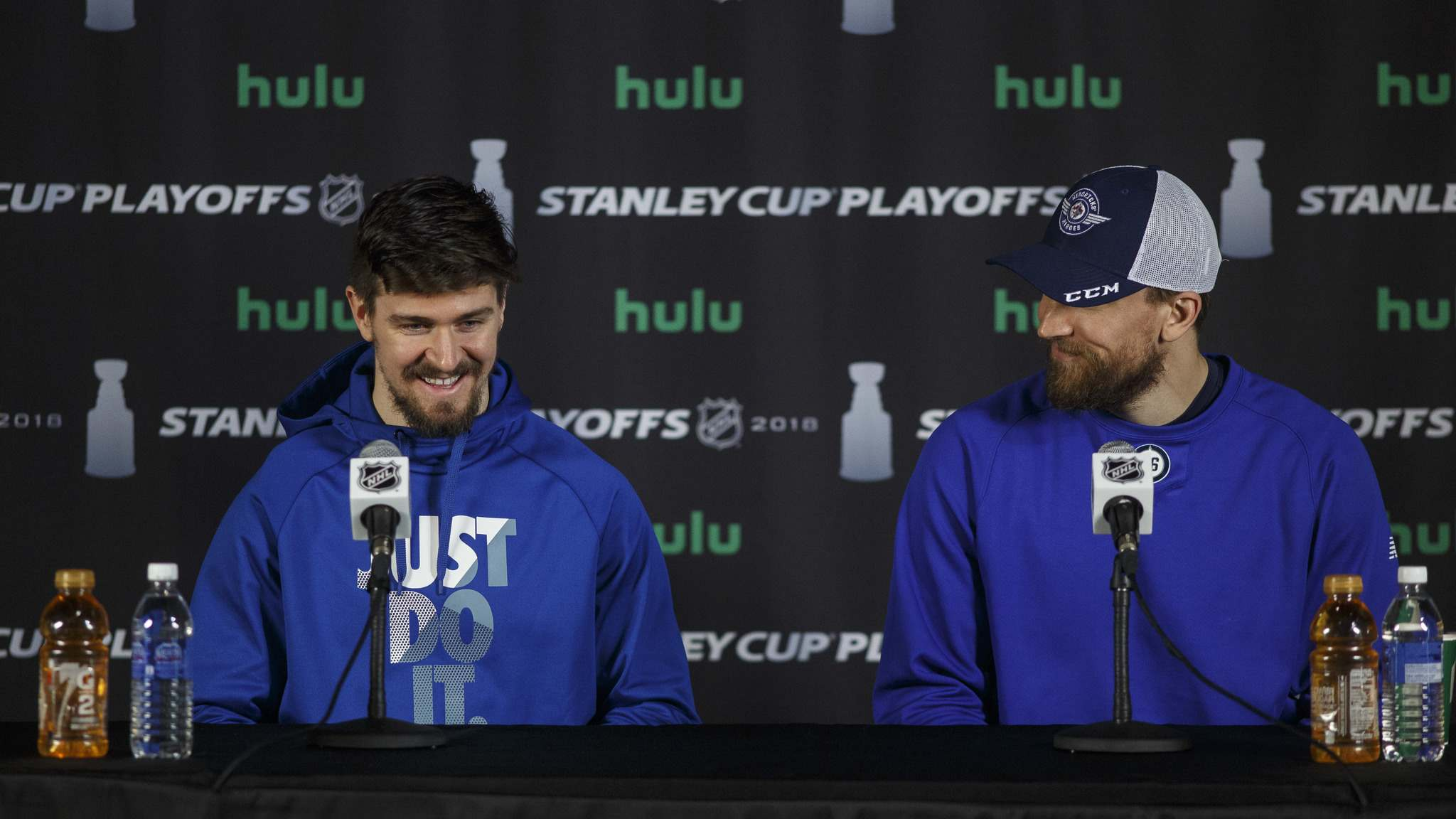 While Maurice certainly left the door open to leadership changes, it doesn't sound like anything is imminent for Mark Scheifele (left) or Blake Wheeler. (Mike Deal / Free Press files)