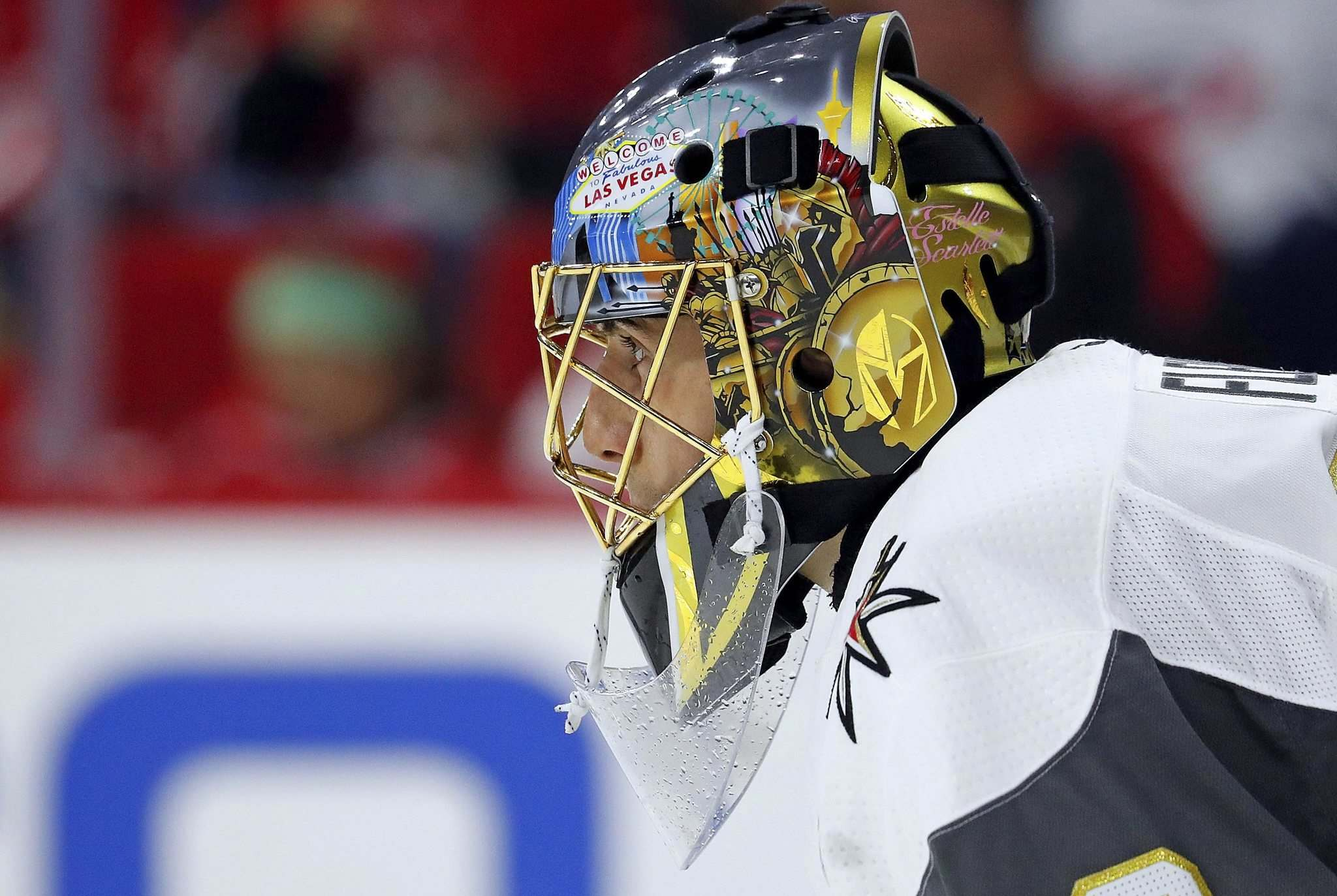 (AP Photo/Karl B DeBlaker)</p><p>Vegas Golden Knights goaltender Marc-Andre Fleury&#39;s teammates admire his positive disposition as much as his premier puckstopping abilities.</p>