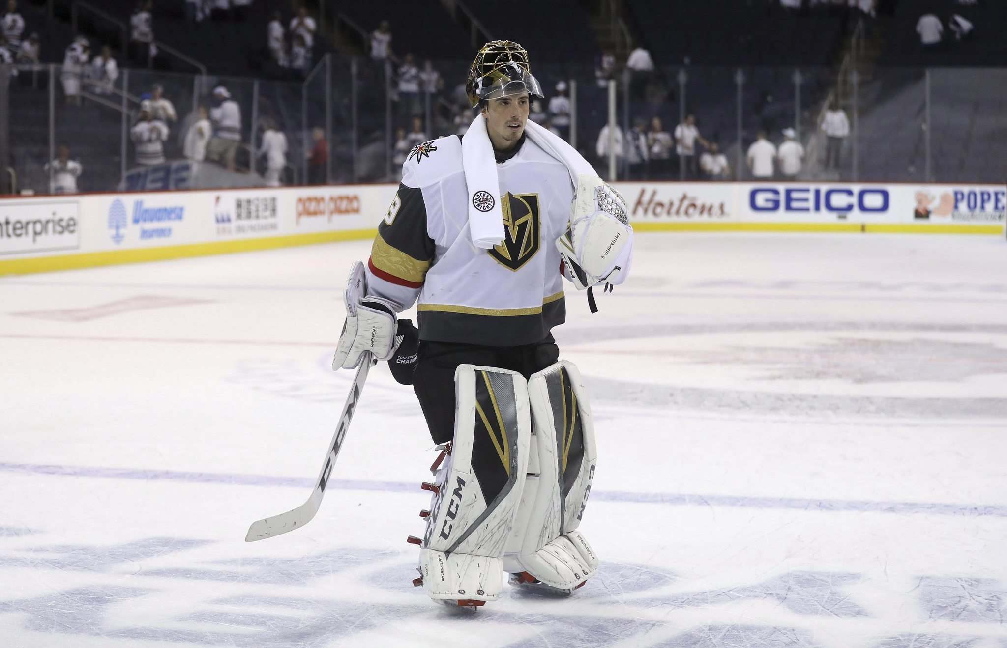 Trevor Hagan / The Canadian Press files</p><p>Vegas goaltender Marc-André Fleury had the Jets' number for four consecutive games. He was the single biggest difference in the series.</p></p>