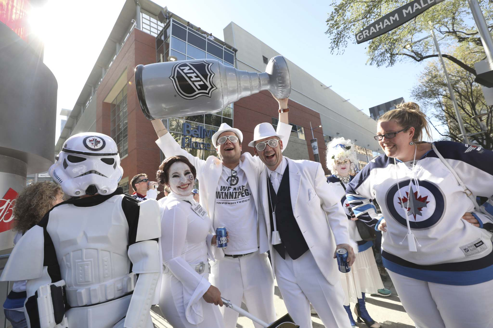 Ruth Bonneville / Winnipeg Free Press</p><p>Winnipeg Jets fans enjoy the Whiteout street party during the final round of Western Conference against the Vegas Golden Knights in Winnipeg.</p>