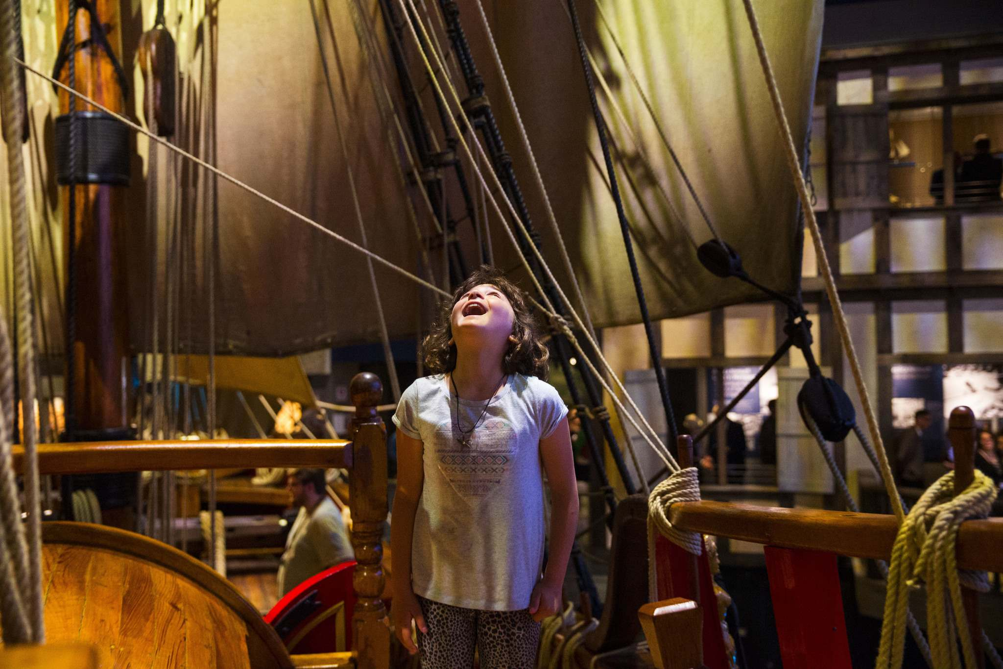 Mikaela MacKenzie / Winnipeg Free Press</p><p>Janique Curé, nine, explores the Nonsuch gallery on opening day at the Manitoba Museum.</p>