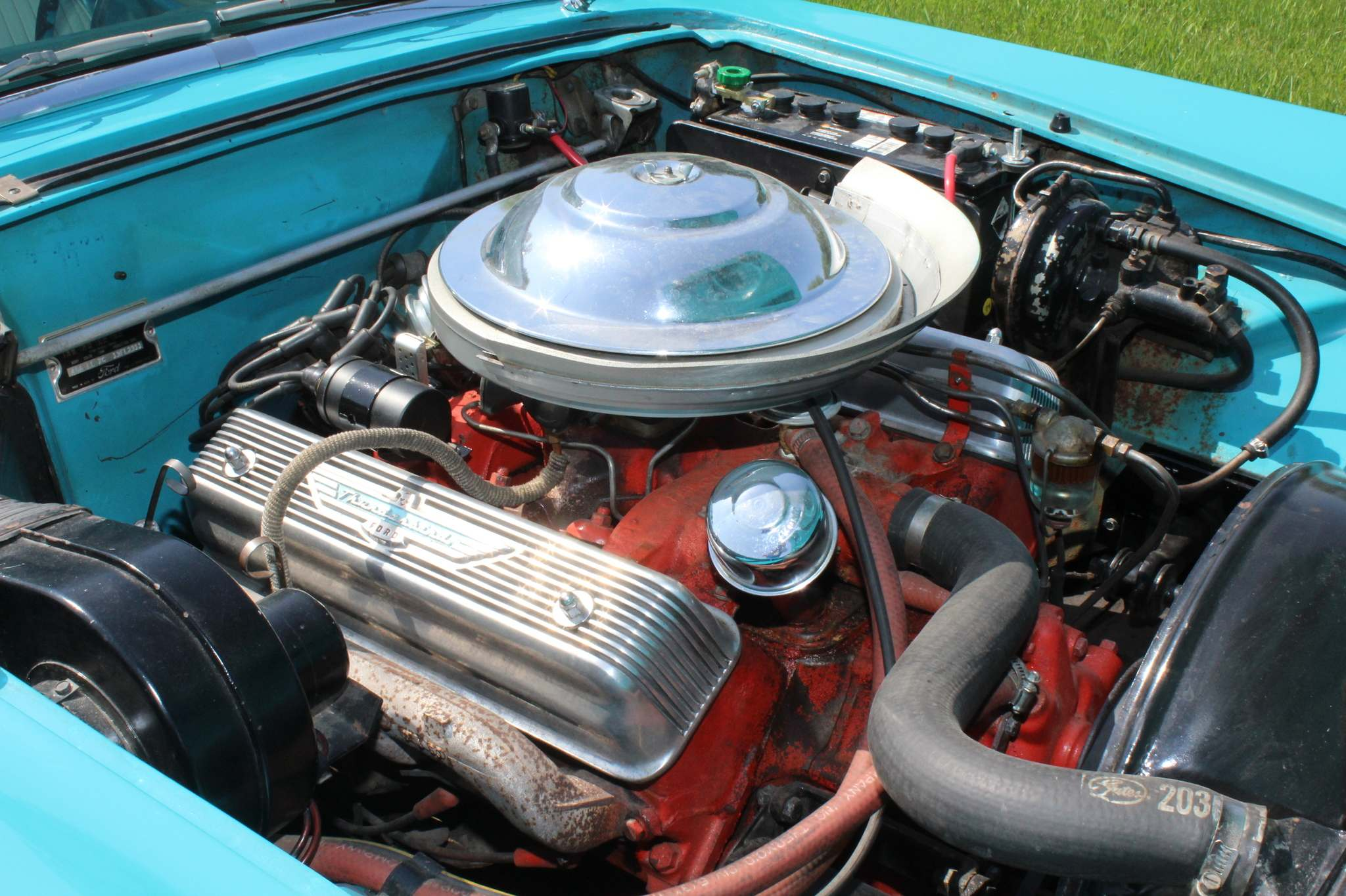 Under the hood is a 225-horsepower, 312-cubic-inch V-8 engine.