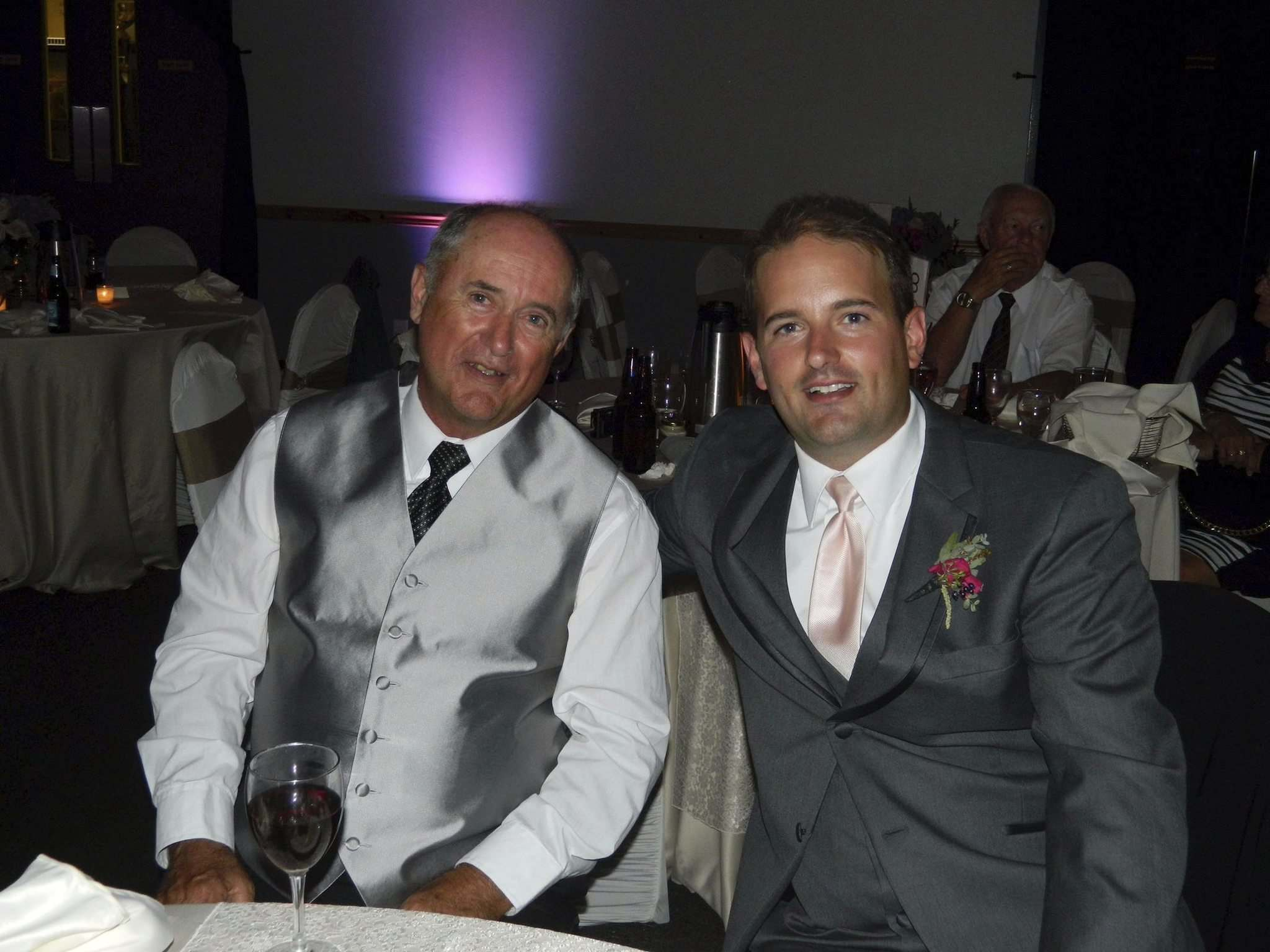 Robin Carruthers (right) and son, Reid. (Supplied photo)