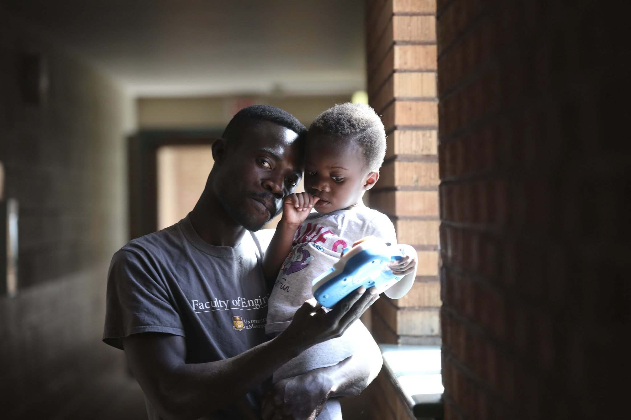 RUTH BONNEVILLE / WINNIPEG FREE PRESS</p><p>Photos of Ben (can't provide last names), from Ghana and his 2-year-old daughter Blessing at his apartment in the west end. Ben is now in Canada by himself with his little girl after trying to claim asylum in the US where Blessing's mom was deported back to Ghana.See Carol Sanders | Reporter</p><p>June 13, 2018</p></p>