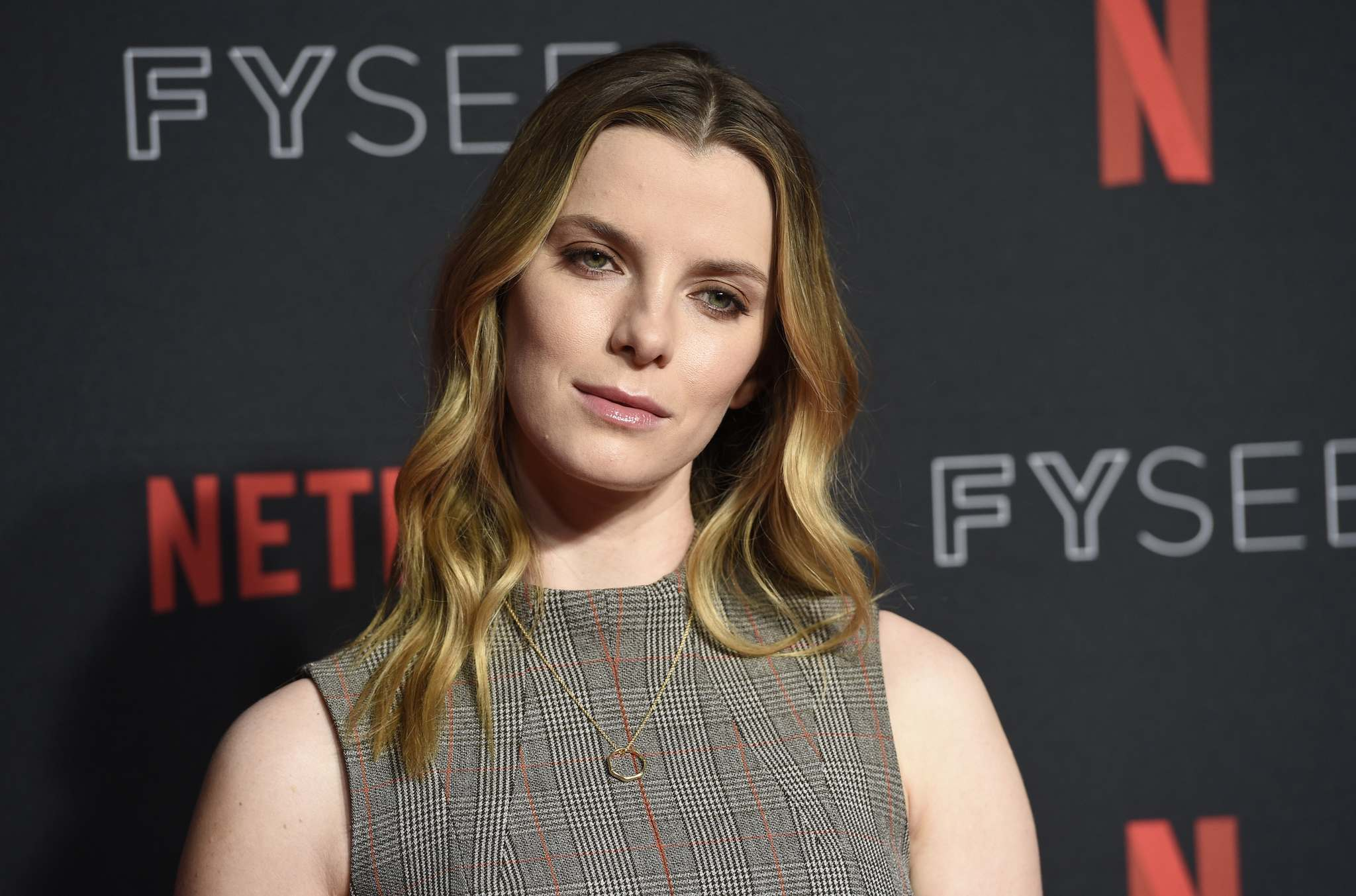 Invision FIles</p><p>Betty Gilpin spoke about filming in a haunted hotel on The Late Show with Stephen Colbert.</p>