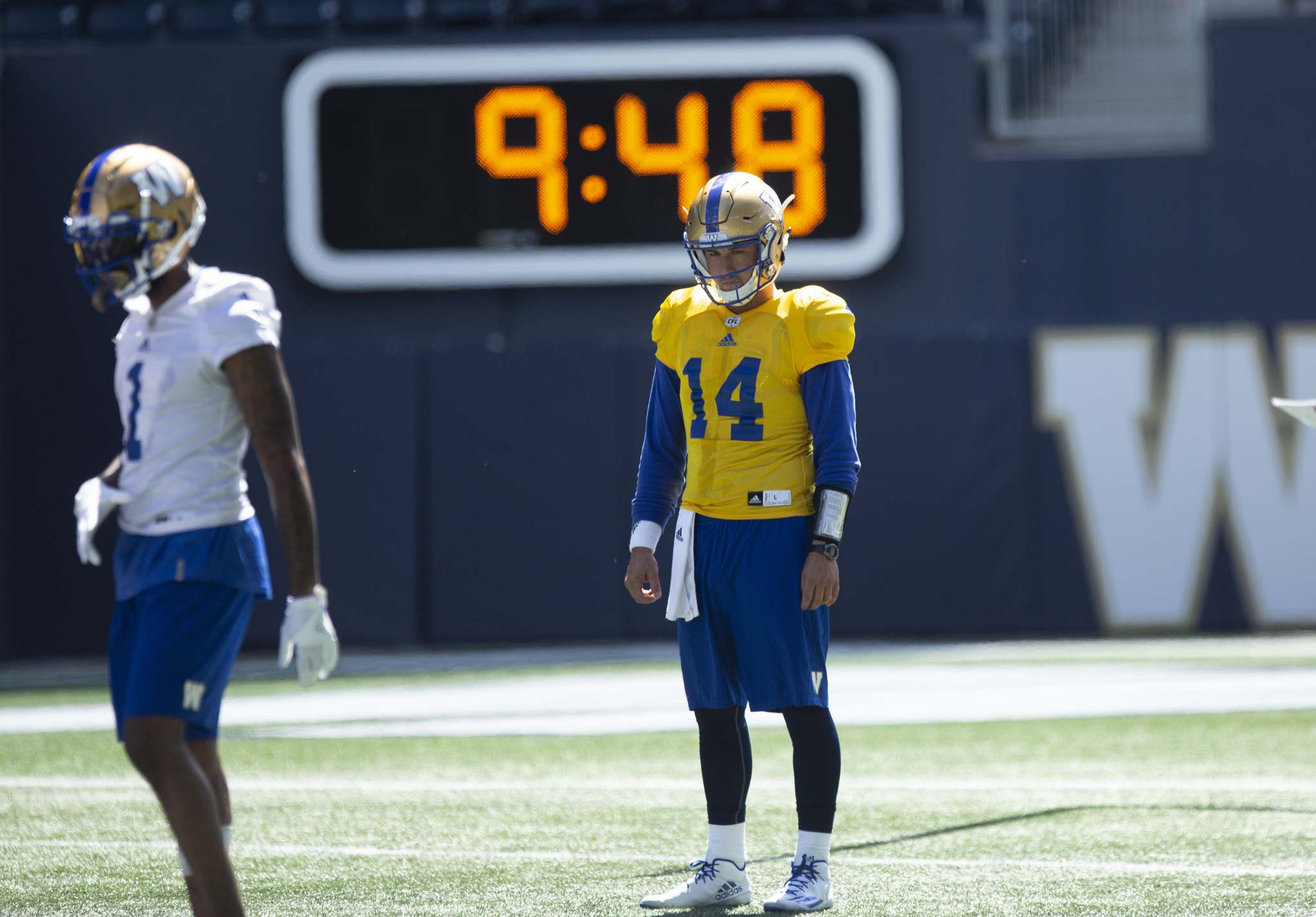 Gale was watching a rodeo in Alberta when he got the call from the Blue Bombers, who lost backup Alex Ross to lower-body injury during Thursday's 33-30 loss to Edmonton. (ANDREW RYAN / WINNIPEG FREE PRESS)</p></p>