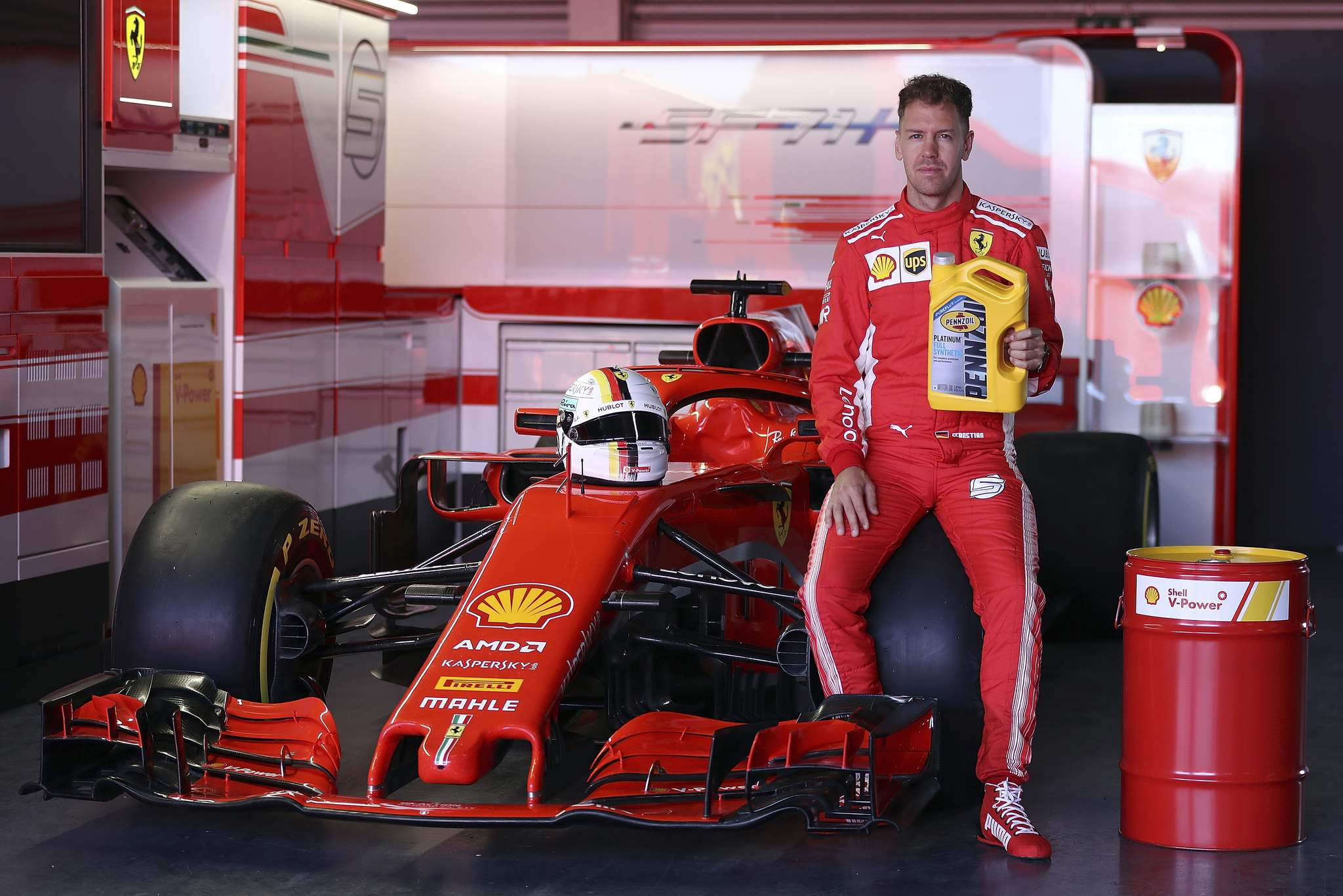 Bryn Lennon / Getty Images filesSebastian Vettel won this year's Formula One Canadian Grand Prix driving a Ferrari running synthetic engine oil with Shell's Pennzoil PurePlus technology.