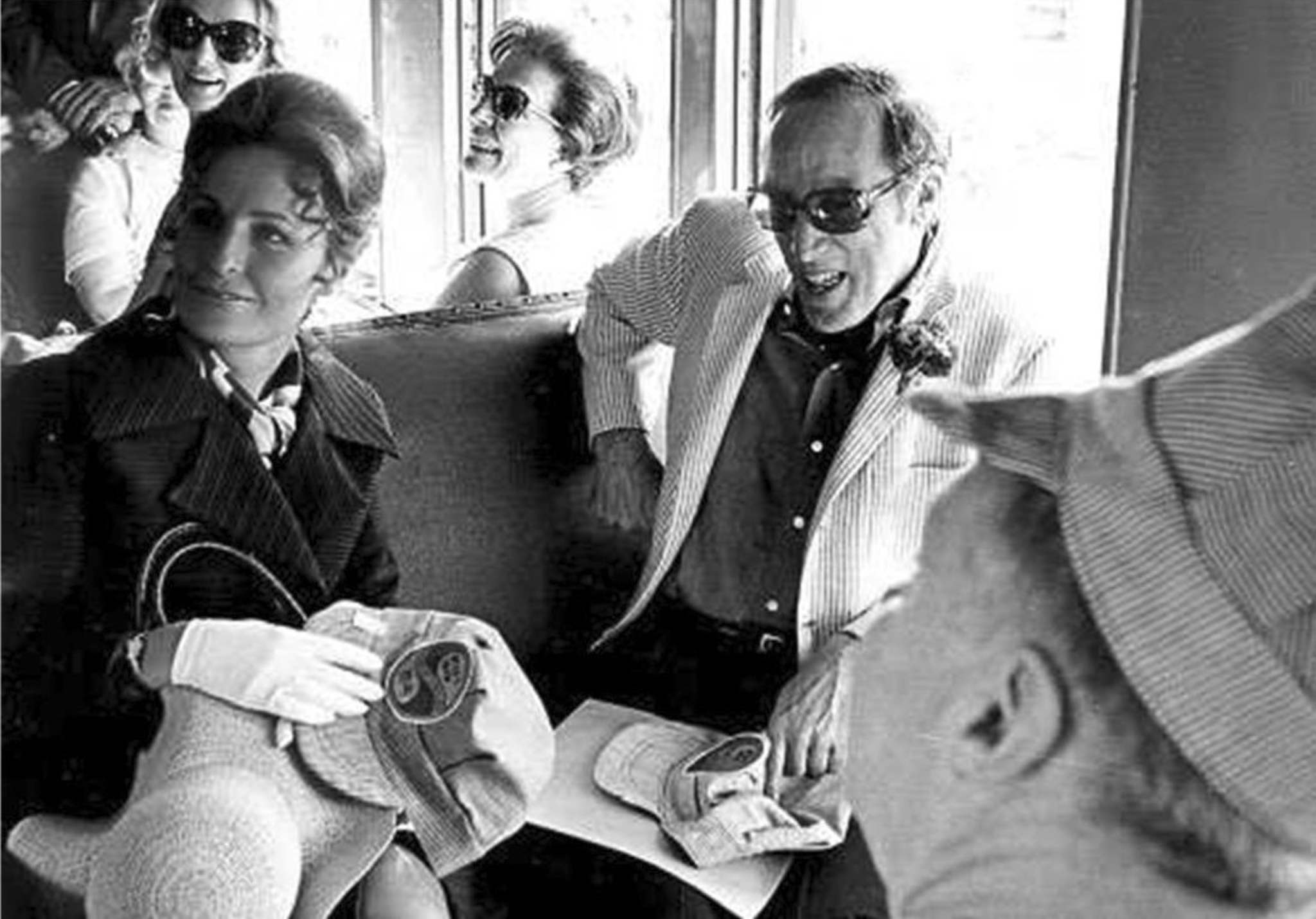 GERRY CAIRNS / WINNIPEG FREE PRESS FILES</p><p>Lily Schreyer, wife of Manitoba's premier Ed Schreyer, and prime minister Pierre Trudeau aboard the Prairie Dog Central as it chugged on to Lower Fort Garry in 1970.</p>