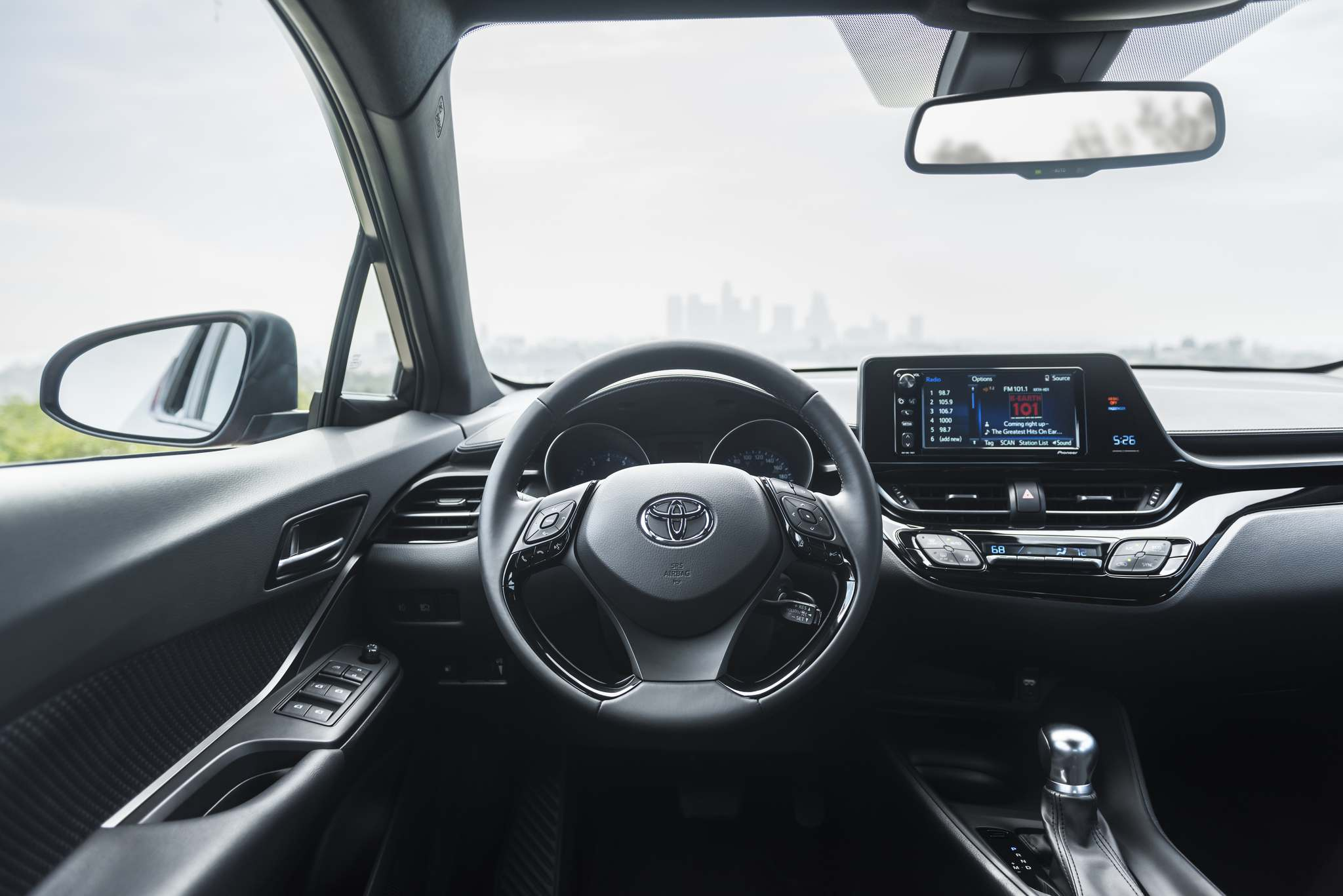 The C-HR's dashboard design is stylish by simplicity, a break from the usual pileup of textures and lines in other Toyota products.