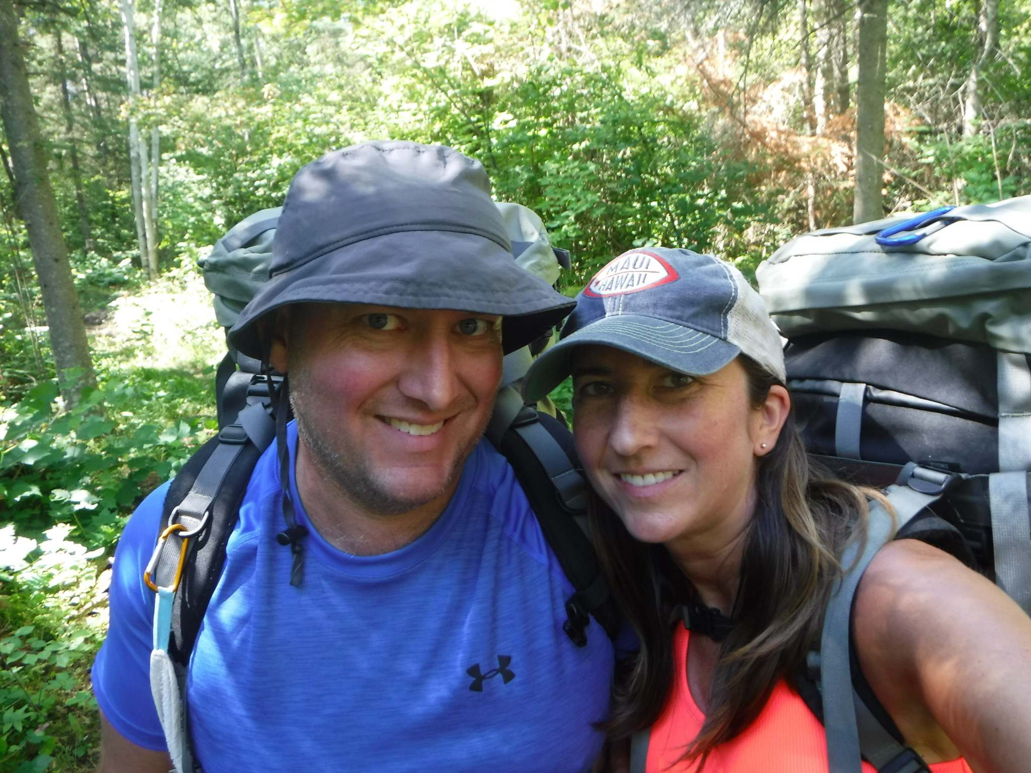 Ryan and Allison Potter at the beginning of the trail. (Supplied)</p>