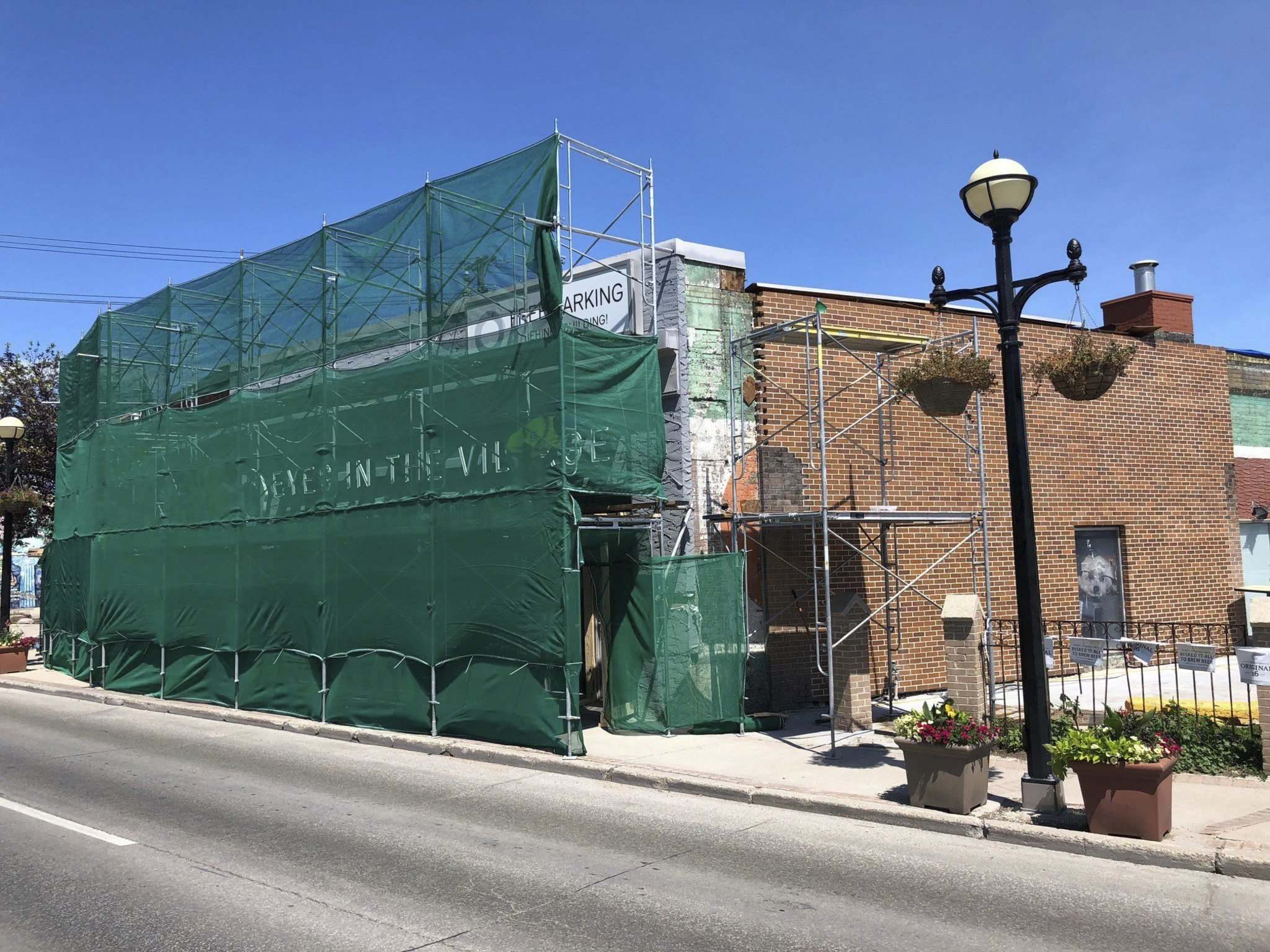 Submitted </p><p>The developer is restoring the building&rsquo;s original brick facade. Restoration work on the facade began on Wednesday.</p></p>