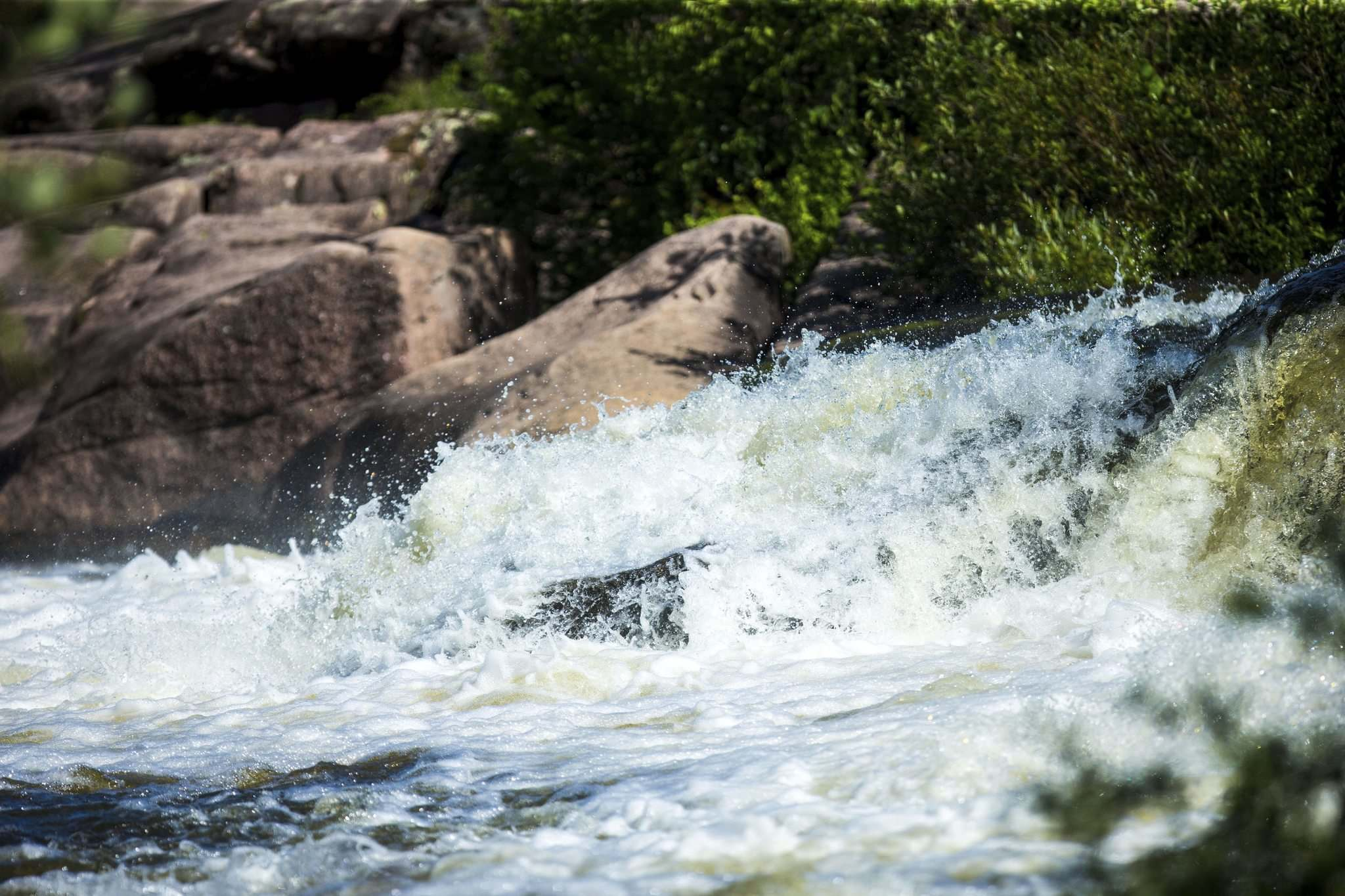 <p>The rapids at the old Pinawa dam area can be unpredictable.</p>