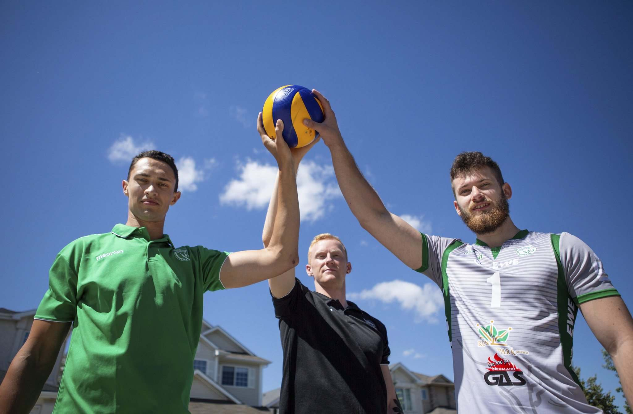 ANDREW RYAN / WINNIPEG FREE PRESS</p><p>Ken Rooney, Casey Schouten and Luke Herr have been playing volleyball in Winnipeg since they were teenagers, and have now signed on to play with a team in Germany.</p>