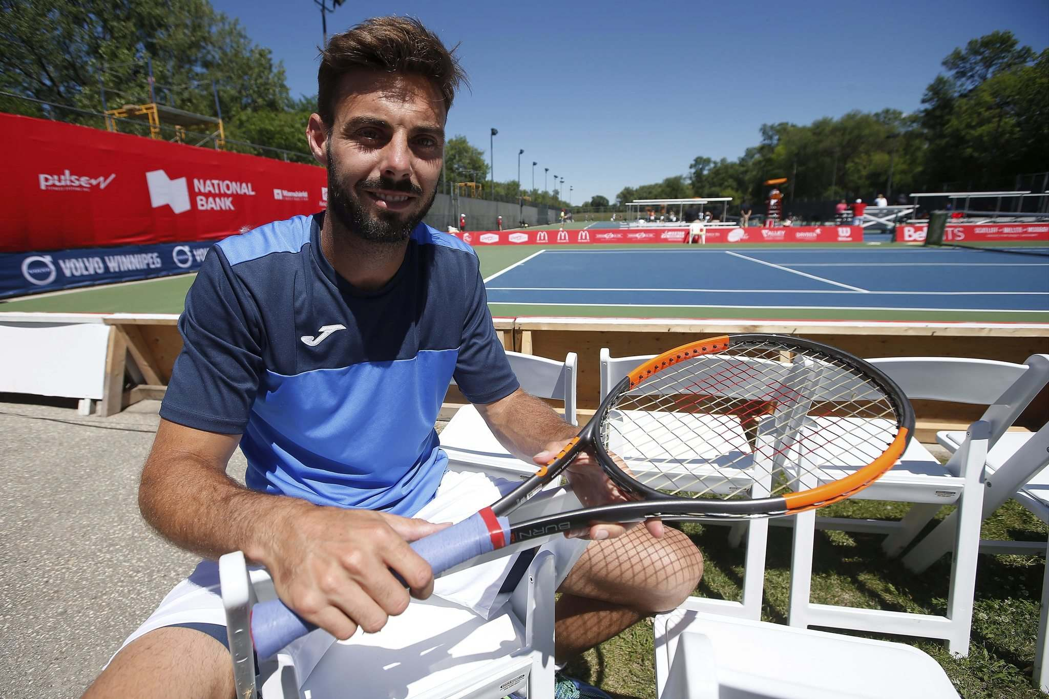 JOHN WOODS / WINNIPEG FREE PRESS</p><p>Marcel Granollers travelled to Winnipeg for the National Bank Challenger tennis tournament just days after getting ousted from Wimbledon.</p>