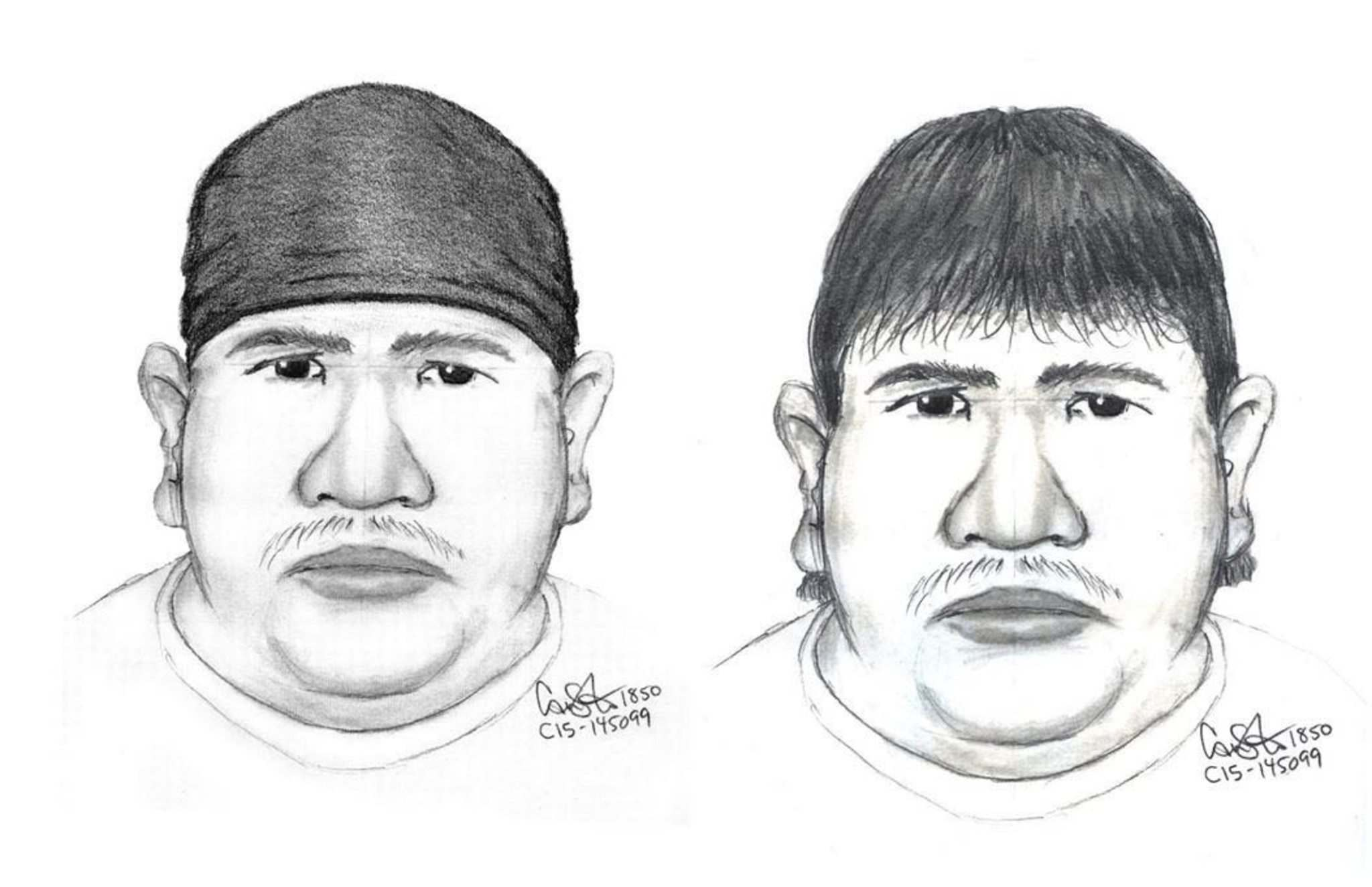 The suspect is described as: Indigenous male in his forties,- 5&rsquo;6&rdquo; &#8211; 5&rsquo;8&rdquo; in height- Heavy build, weighing approximately 270 lbs. with a large stomach and a chubby face.- Dark hair with a bowl-style cut going straight across the forehead, or possibly wearing a dark coloured skull-cap or beanie on his head.</p>