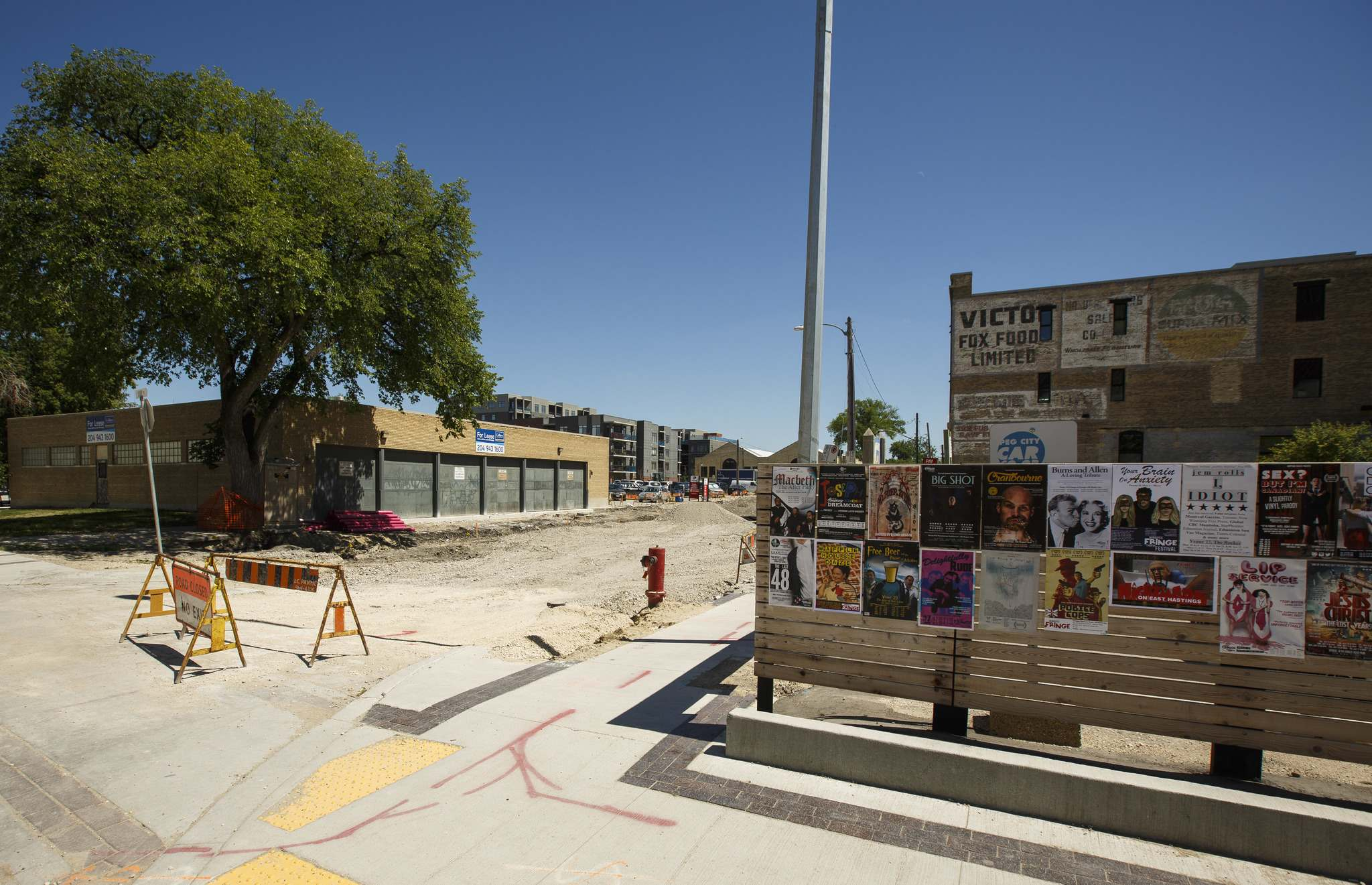 MIKE DEAL / WINNIPEG FREE PRESS Construction in the East Exchange District has reduced the number of parking spots available for Fringe Festival venues which runs from July 18-29. 180717 - Tuesday, July 17, 2018.</p>