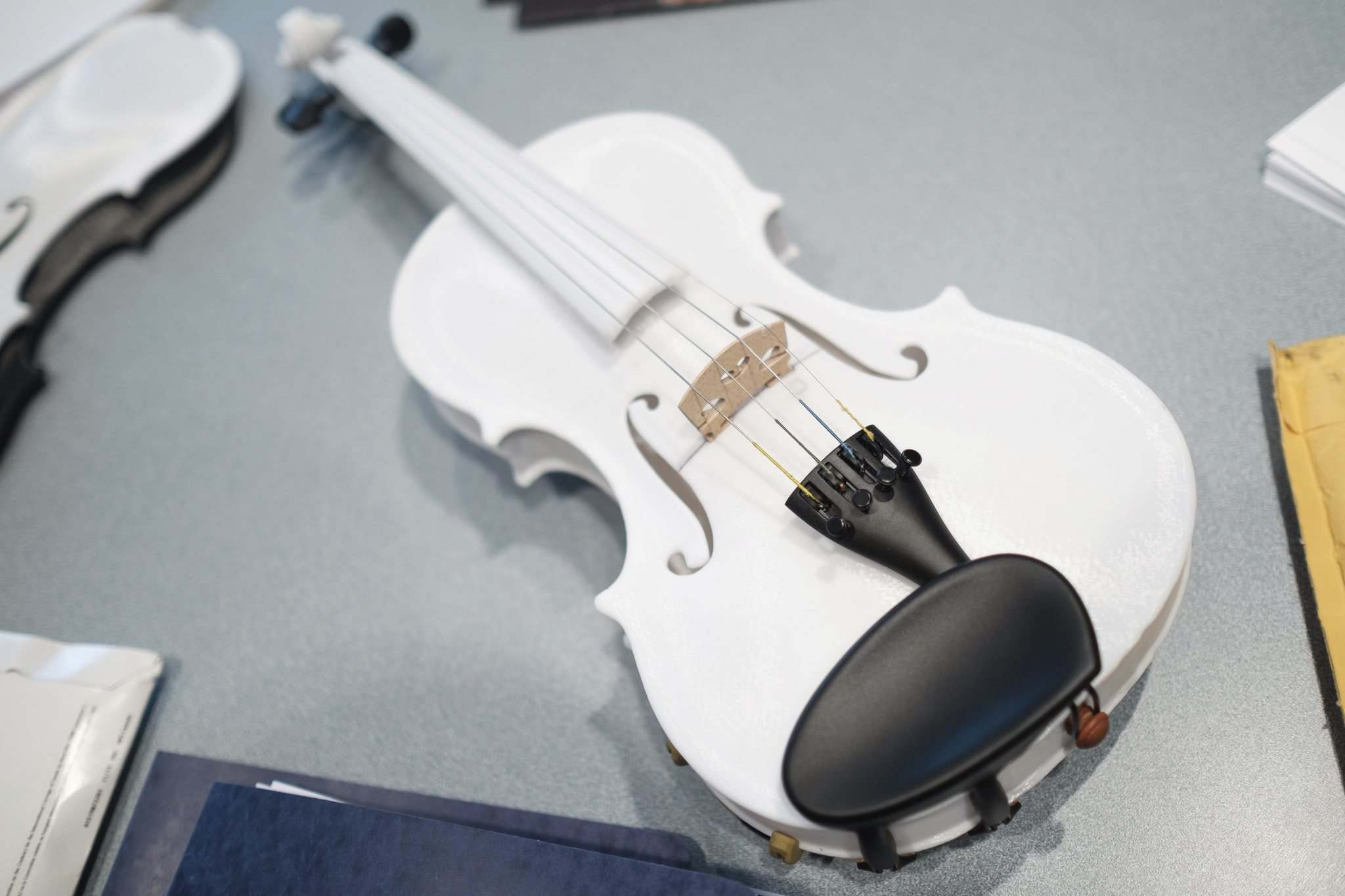 DANIEL CRUMP</p><p>A violin created by a 3D printer at Winnipeg's Industrial Technology Centre.</p>