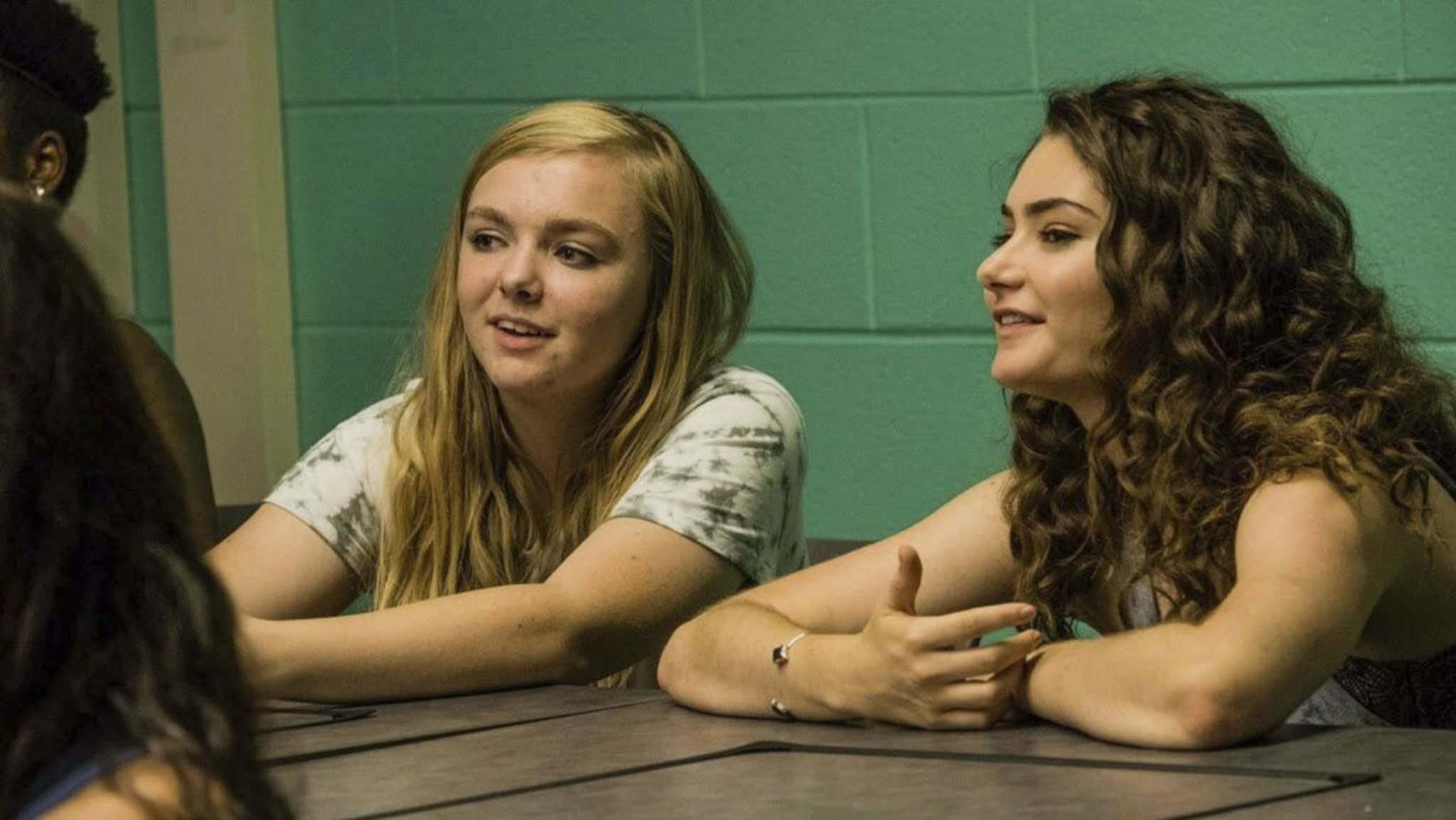 "Linda Kallerus / A24</p><p>Elsie Fisher, left, and Emily Robinson in the movie ""Eighth Grade.""</p>"