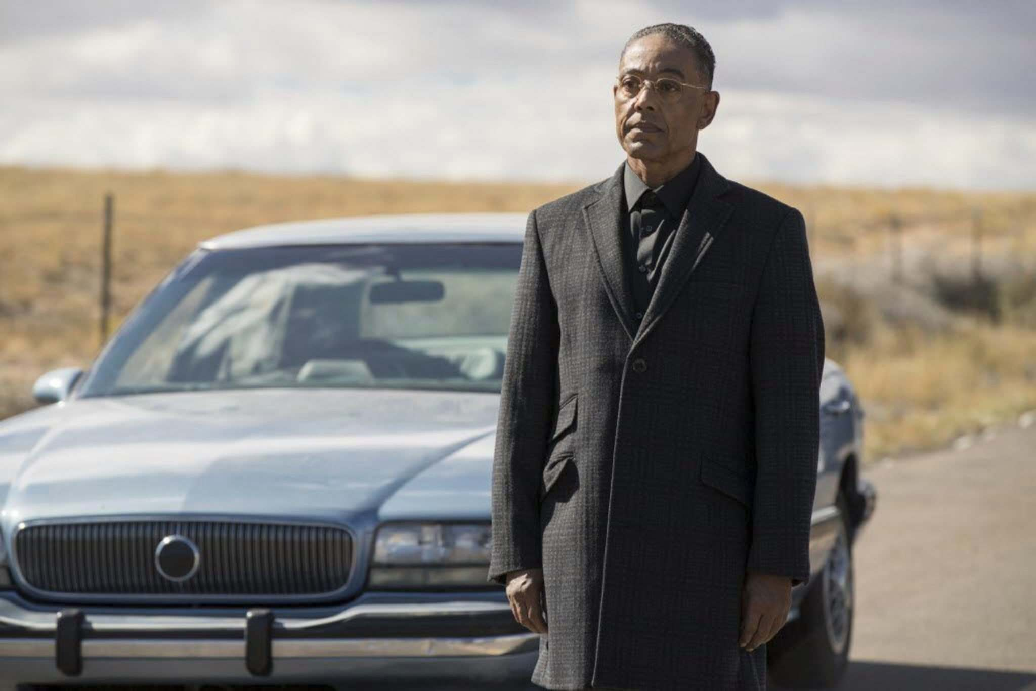 Sony Pictures Television</p><p>Gus Fring (Giancarlo Esposito) seems most like himself when sweeping the floor of his fast-food chicken franchise.</p></p>