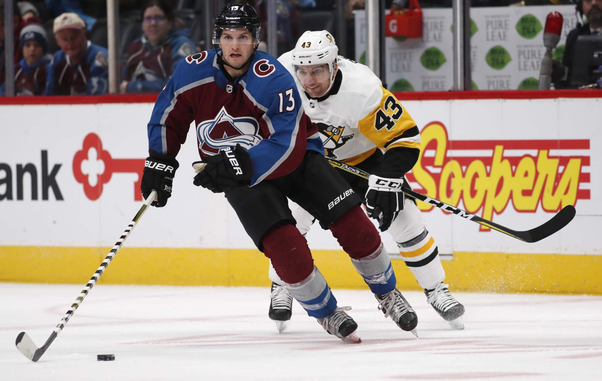 Colorado Avalanche centre Alexander Kerfoot made a big impression in his first season with 19 goals and 24 assists. (David Zalubowski / The Associated Press Files)</p>