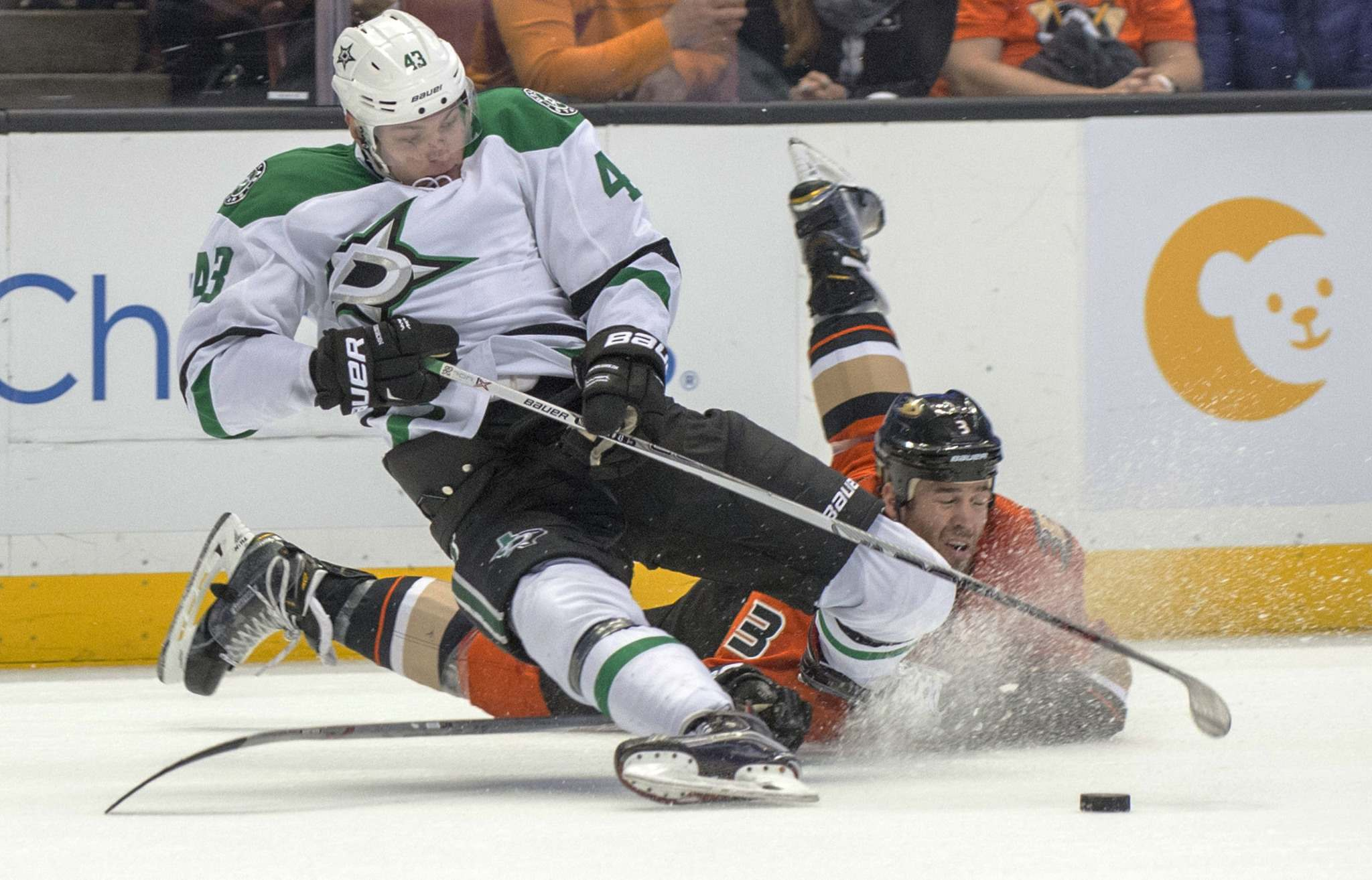 Valeri Nichushkin (left) is back with the Dallas Stars after two seasons in the KHL and could provide another explosive weapon up front for the team. (Michael Goulding / The Orange County Register Files)</p>
