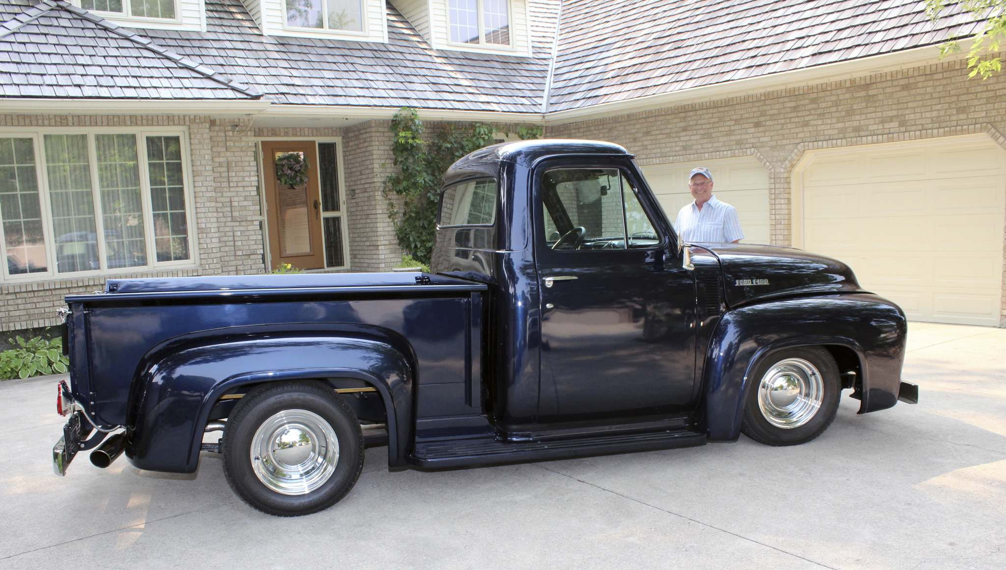 Elden Wittmier with his 1953 Ford F-100 pickup. He originally purchased the truck used in 1970, the year he turned 16.
