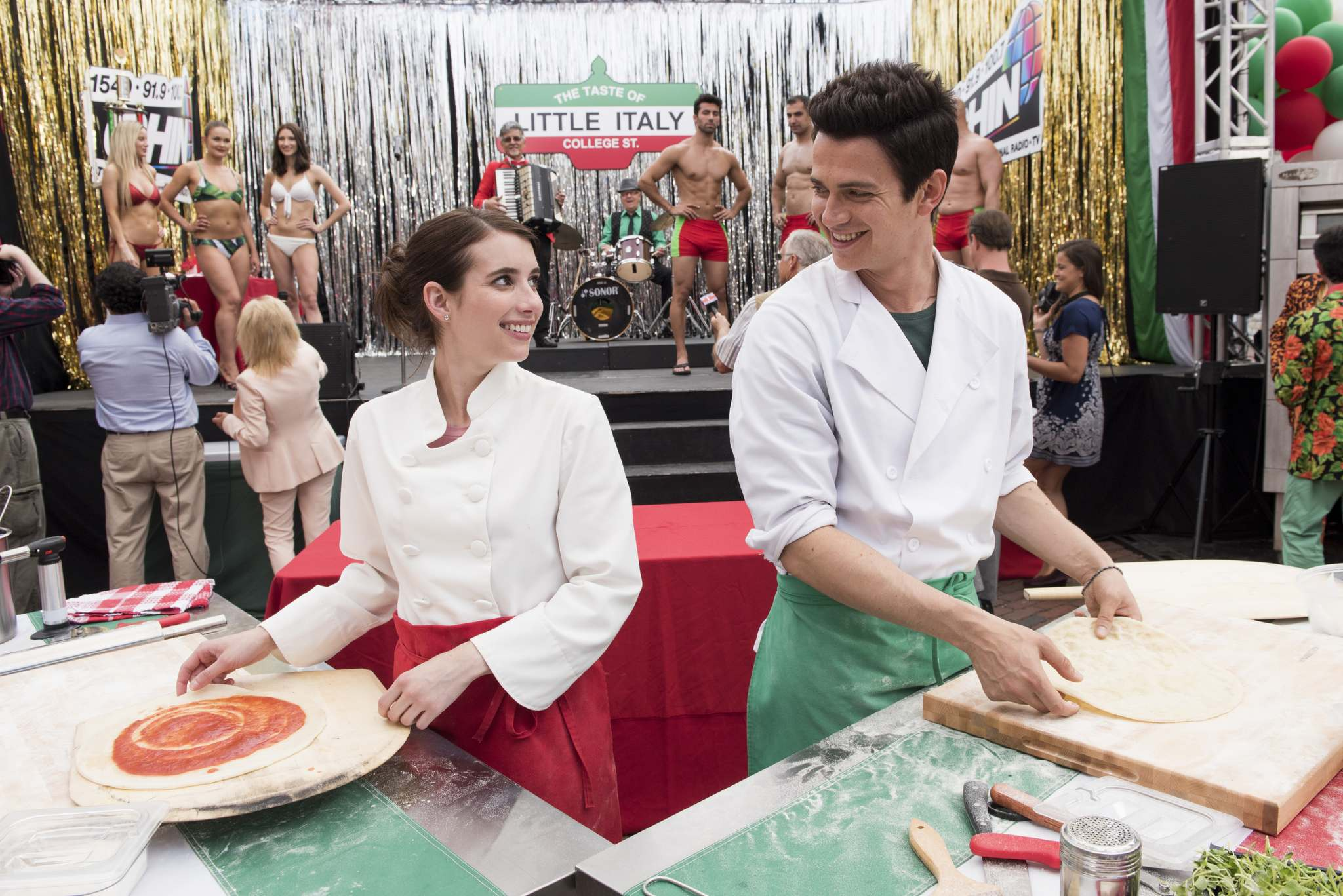 VOLTAGE PICTURES</p><p>Emma Roberts and Hayden Christiansen can't seem to connect in Little Italy, making the romance in the move harder to believe.</p>